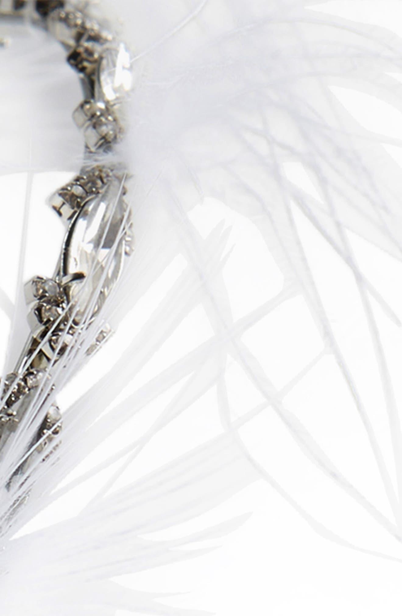 Feather & Crystal Headband,                             Alternate thumbnail 2, color,                             100