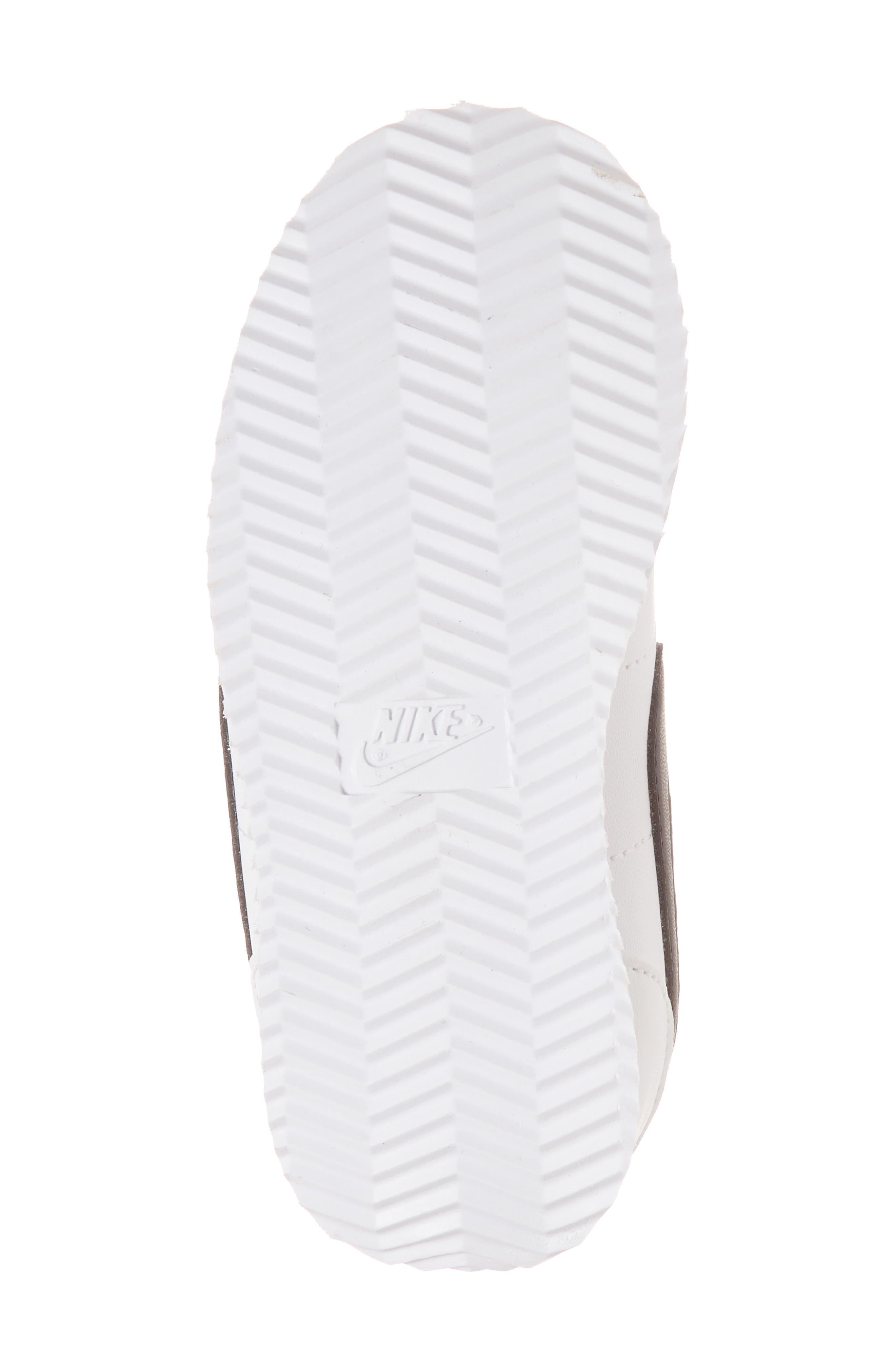 Cortez Basic SL Sneaker,                             Alternate thumbnail 6, color,                             WHITE/ BLACK