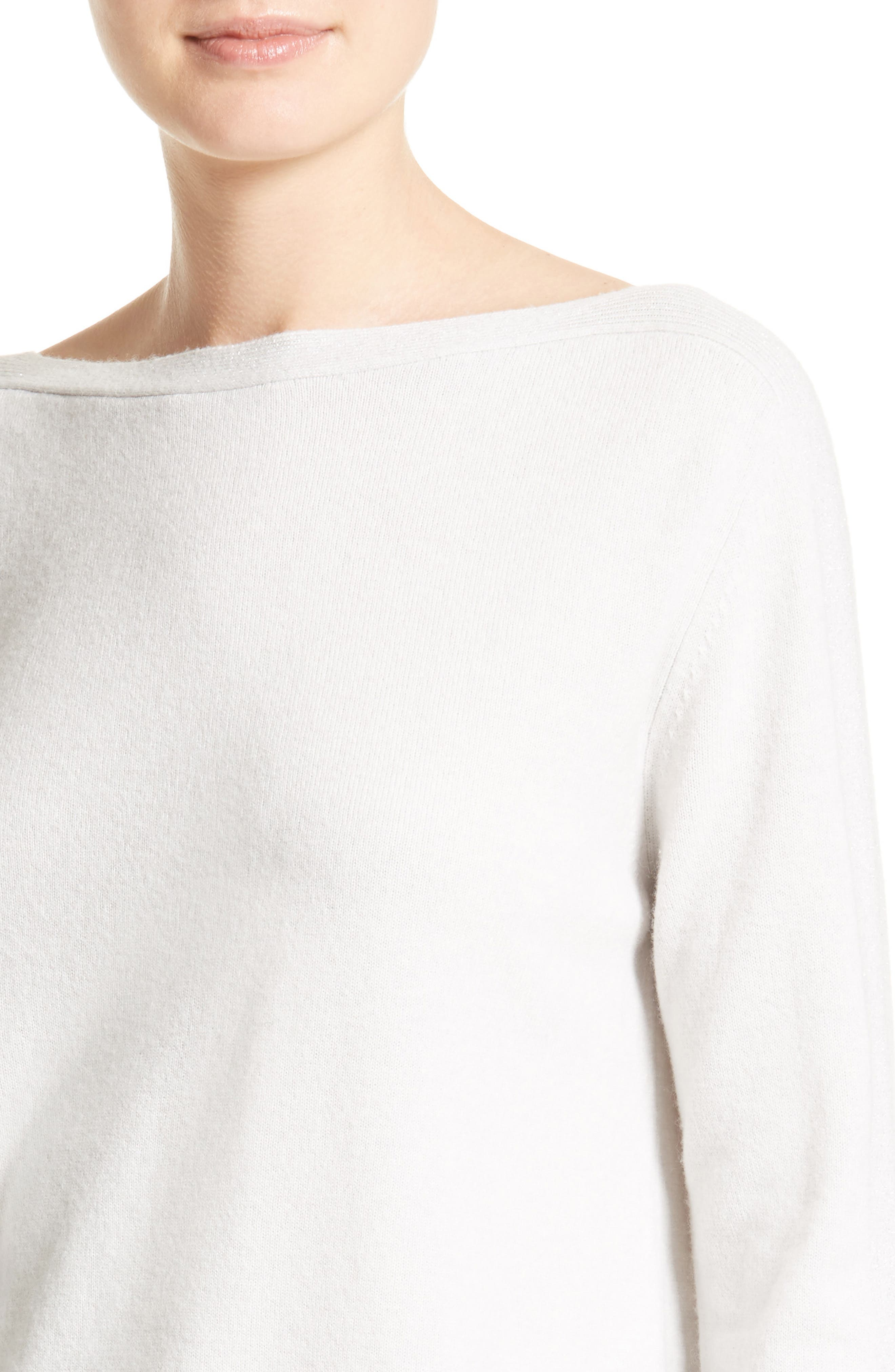Wool, Silk & Cashmere Sweater,                             Alternate thumbnail 4, color,