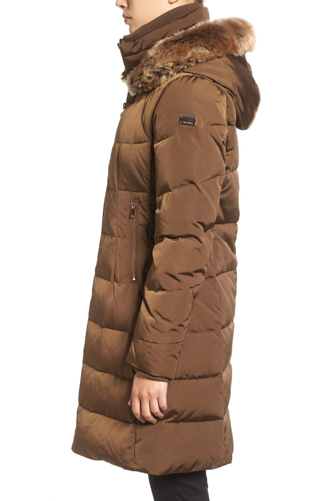 Down & Feather Fill Coat with Faux Fur Trim Hood,                             Alternate thumbnail 15, color,