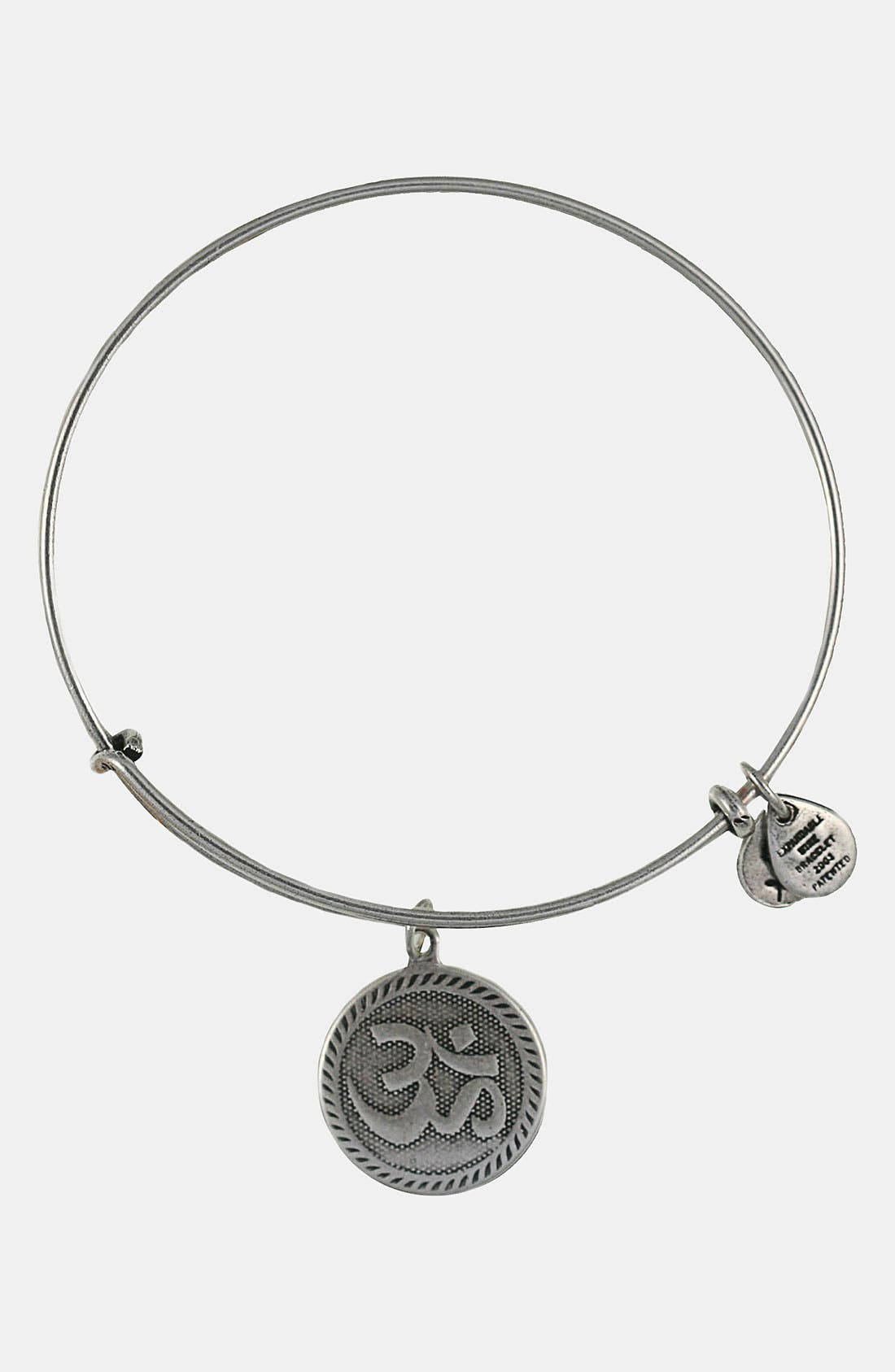 ALEX AND ANI,                             'Om' Wire Bangle,                             Main thumbnail 1, color,                             040