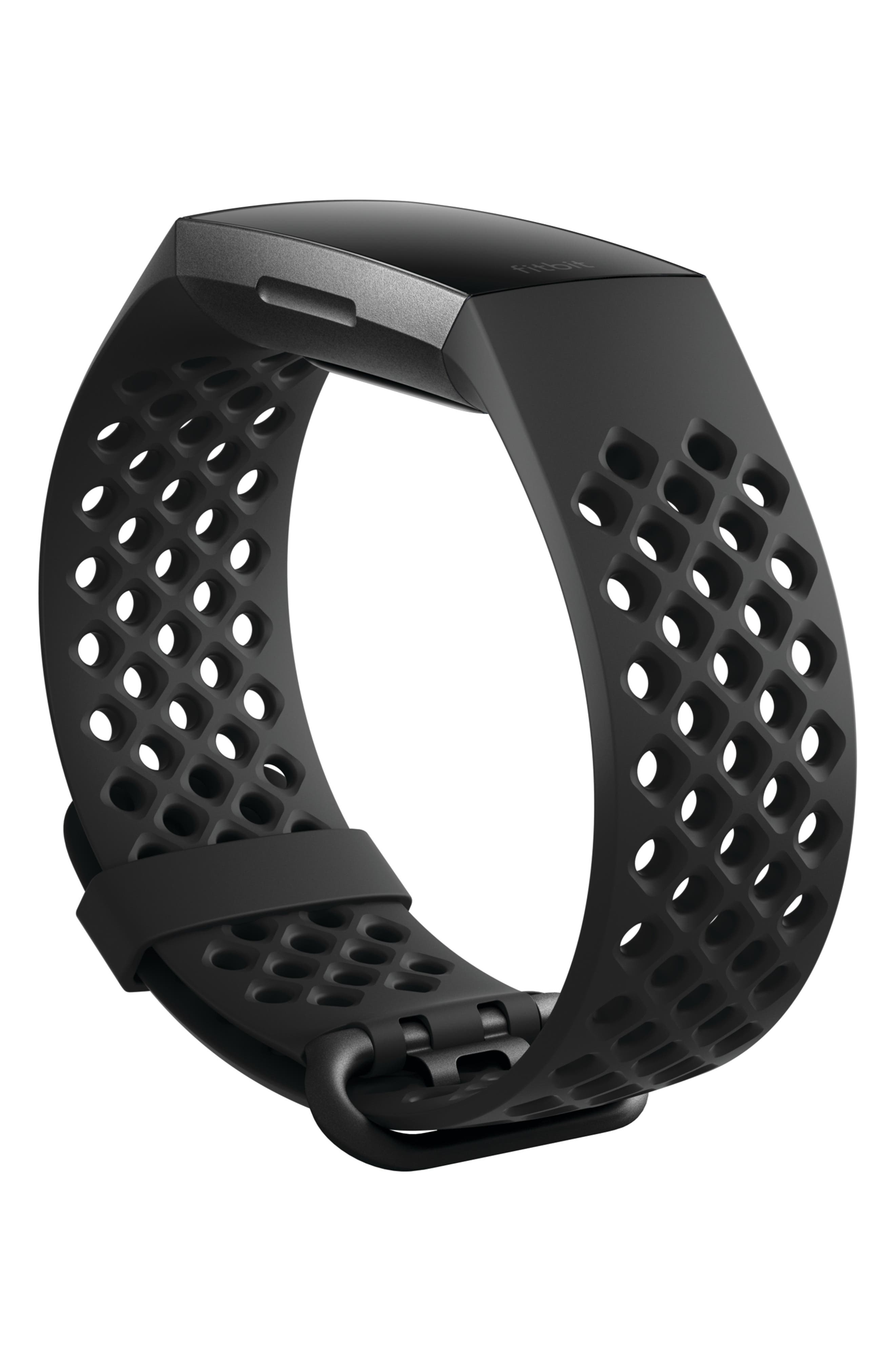 Charge 3 Wireless Activity & Heart Rate Tracker,                             Alternate thumbnail 3, color,                             BLACK