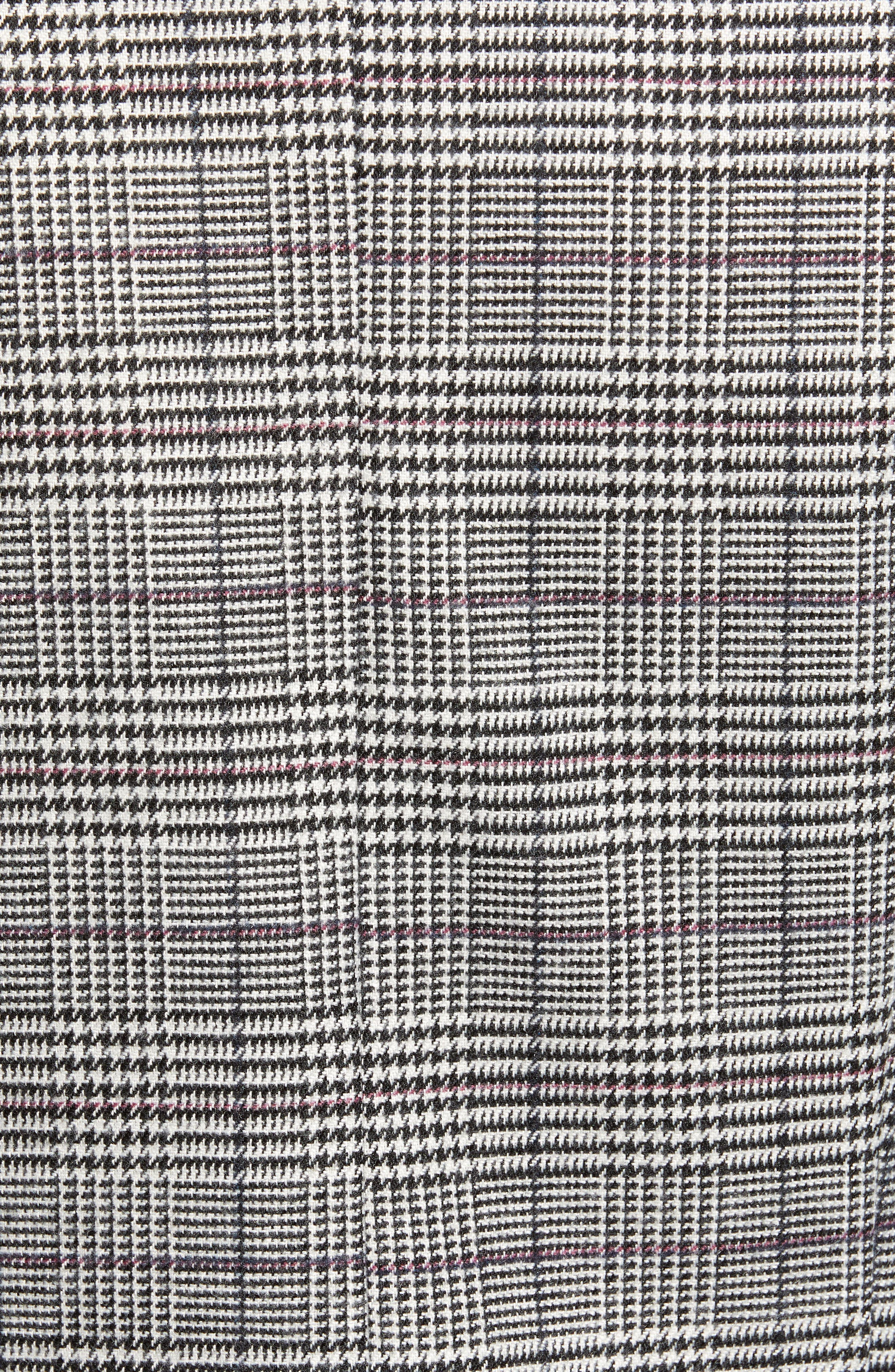 Chriselle Lim Bianca Piped Houndstooth Blazer,                             Alternate thumbnail 8, color,                             GREY PLAID