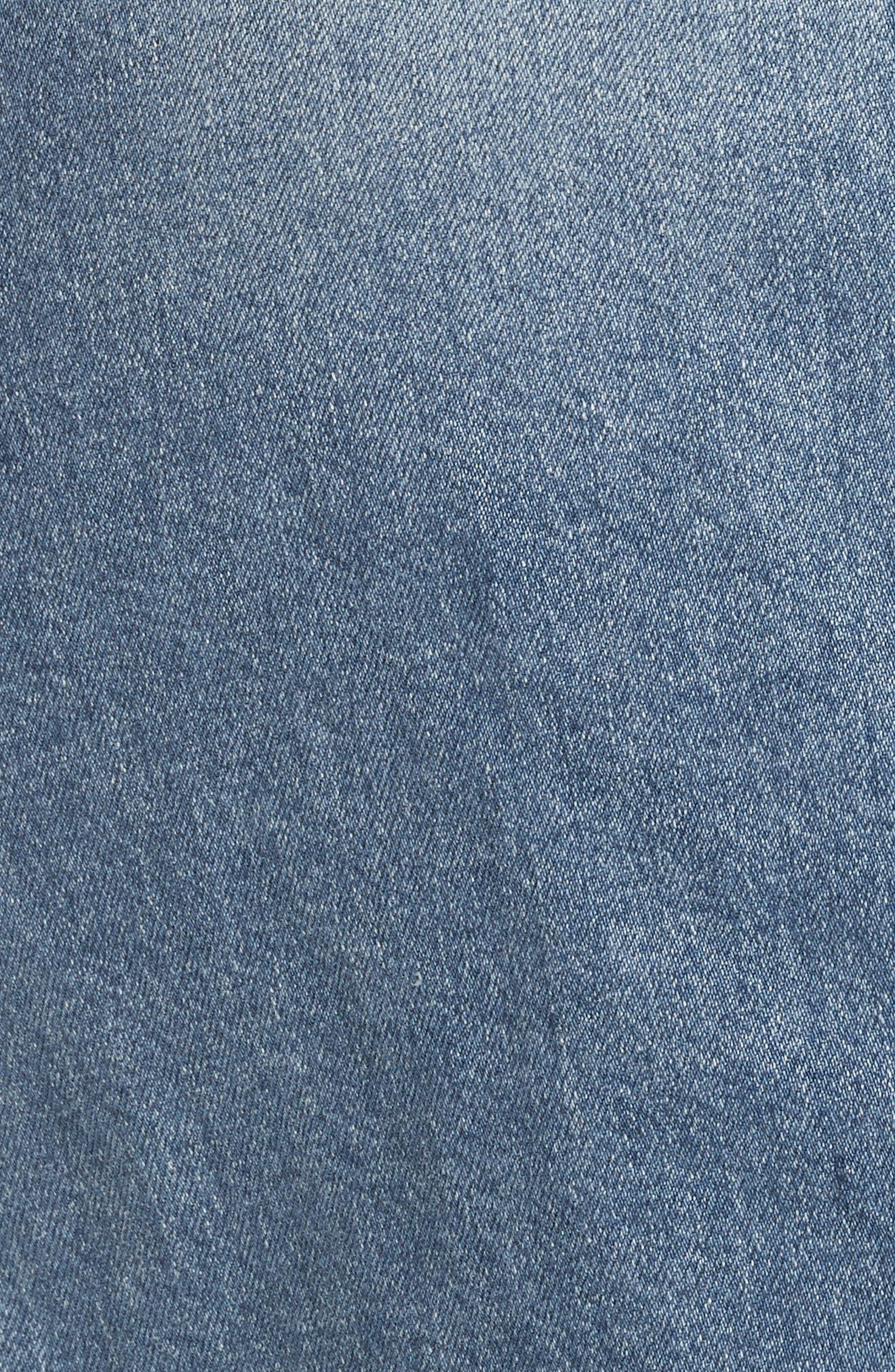 Front Slit Denim Skirt,                             Alternate thumbnail 5, color,                             400