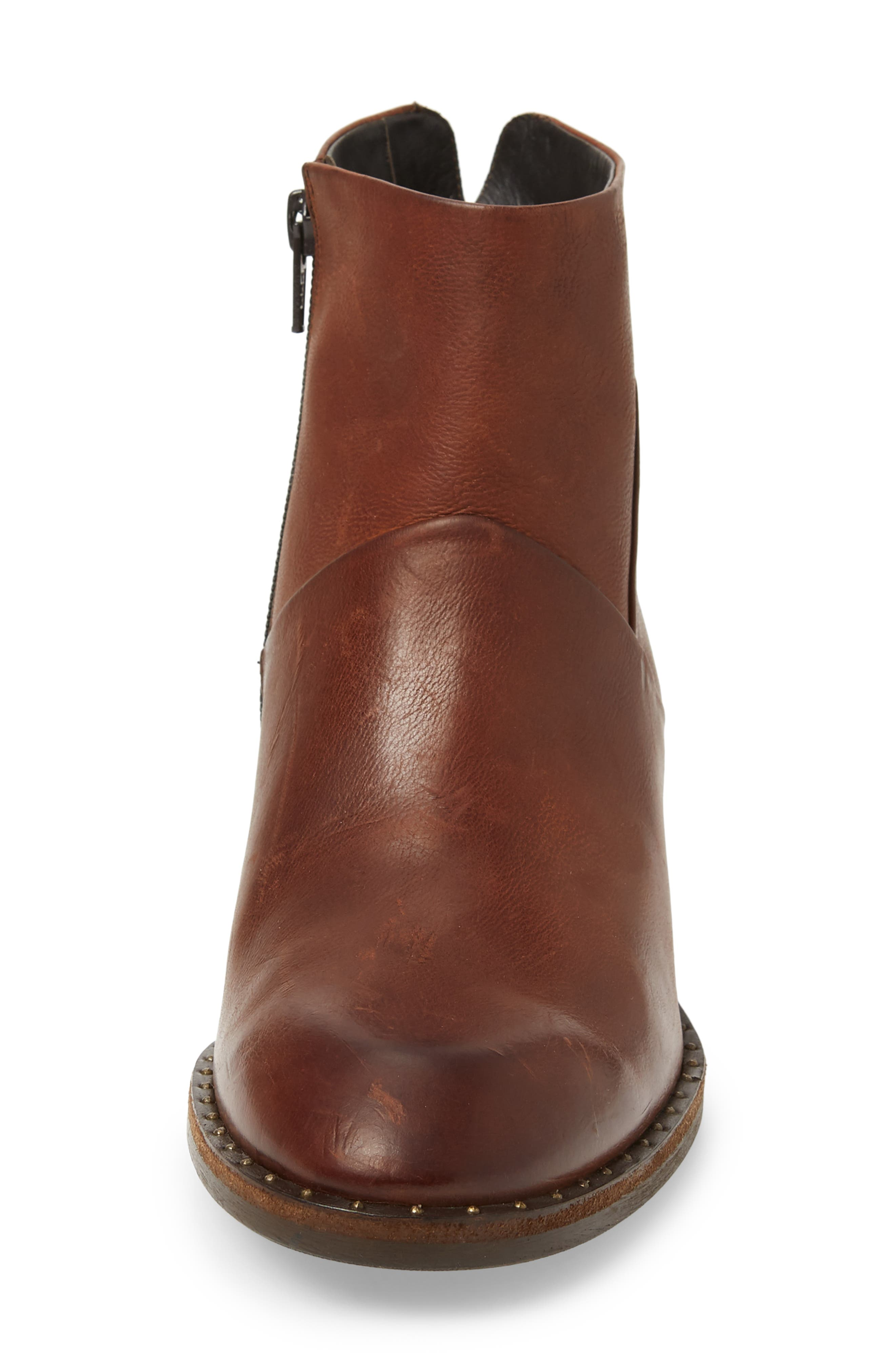 Stella Bootie,                             Alternate thumbnail 4, color,                             SADDLE LEATHER