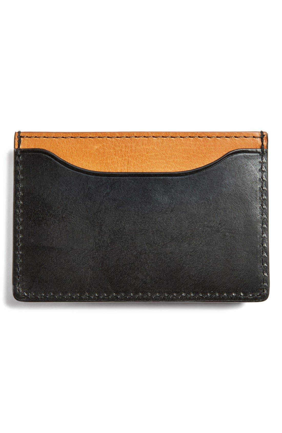 JACK SPADE,                             'Mitchell' Leather Card Holder,                             Alternate thumbnail 2, color,                             001