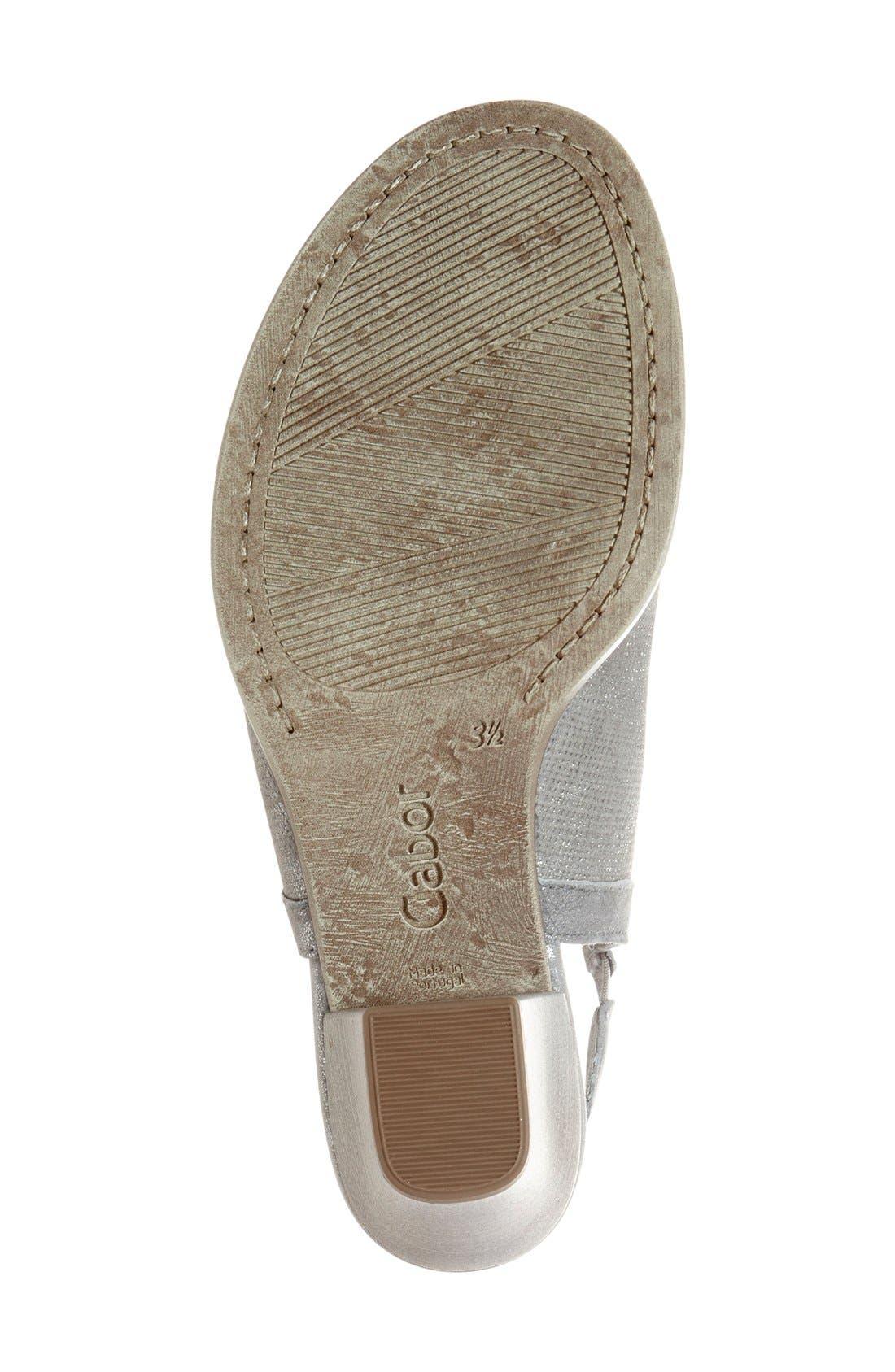 Open Toe Leather Sandal,                             Alternate thumbnail 3, color,                             040