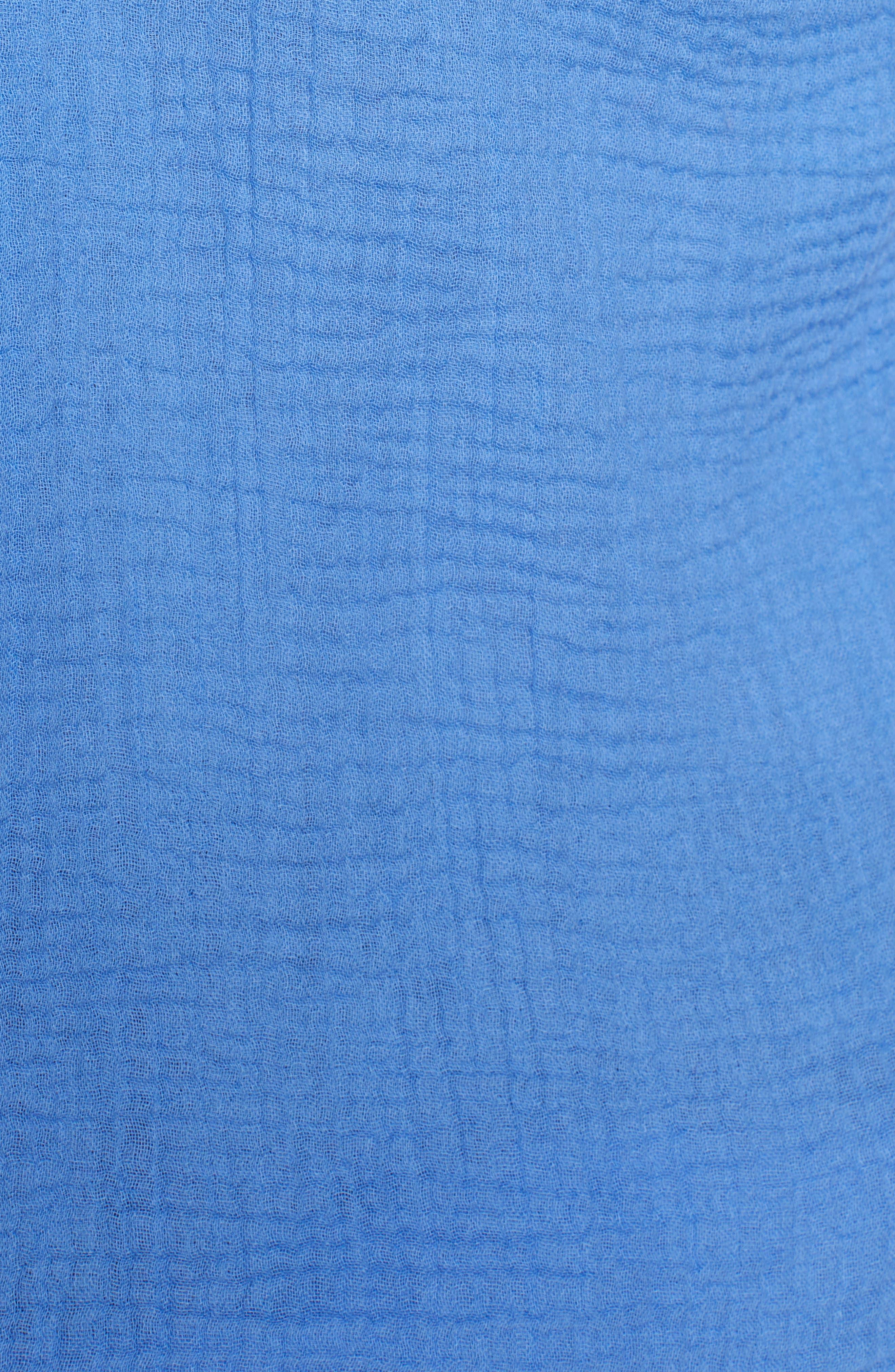 Steady Boyfriend Roll Tab Shirt,                             Alternate thumbnail 5, color,                             IRIS