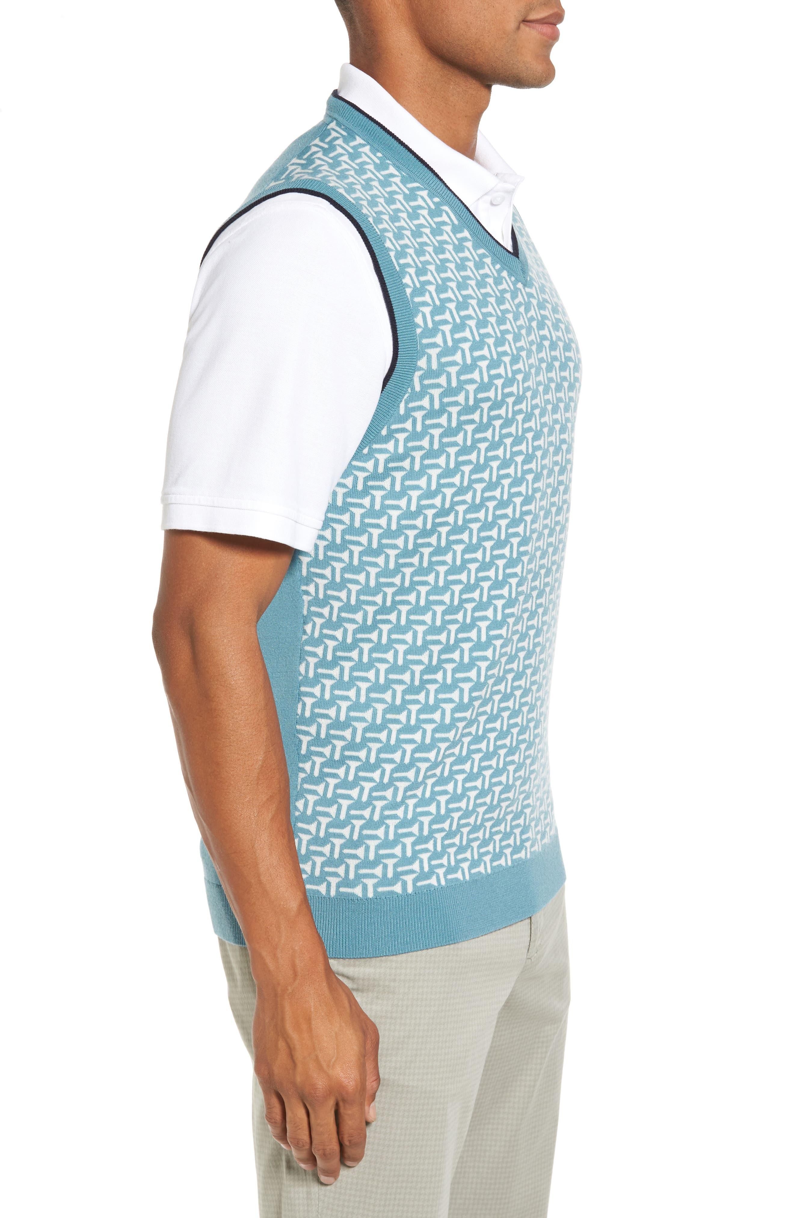 Tommas Golf Merino Sweater Vest,                             Alternate thumbnail 3, color,                             331