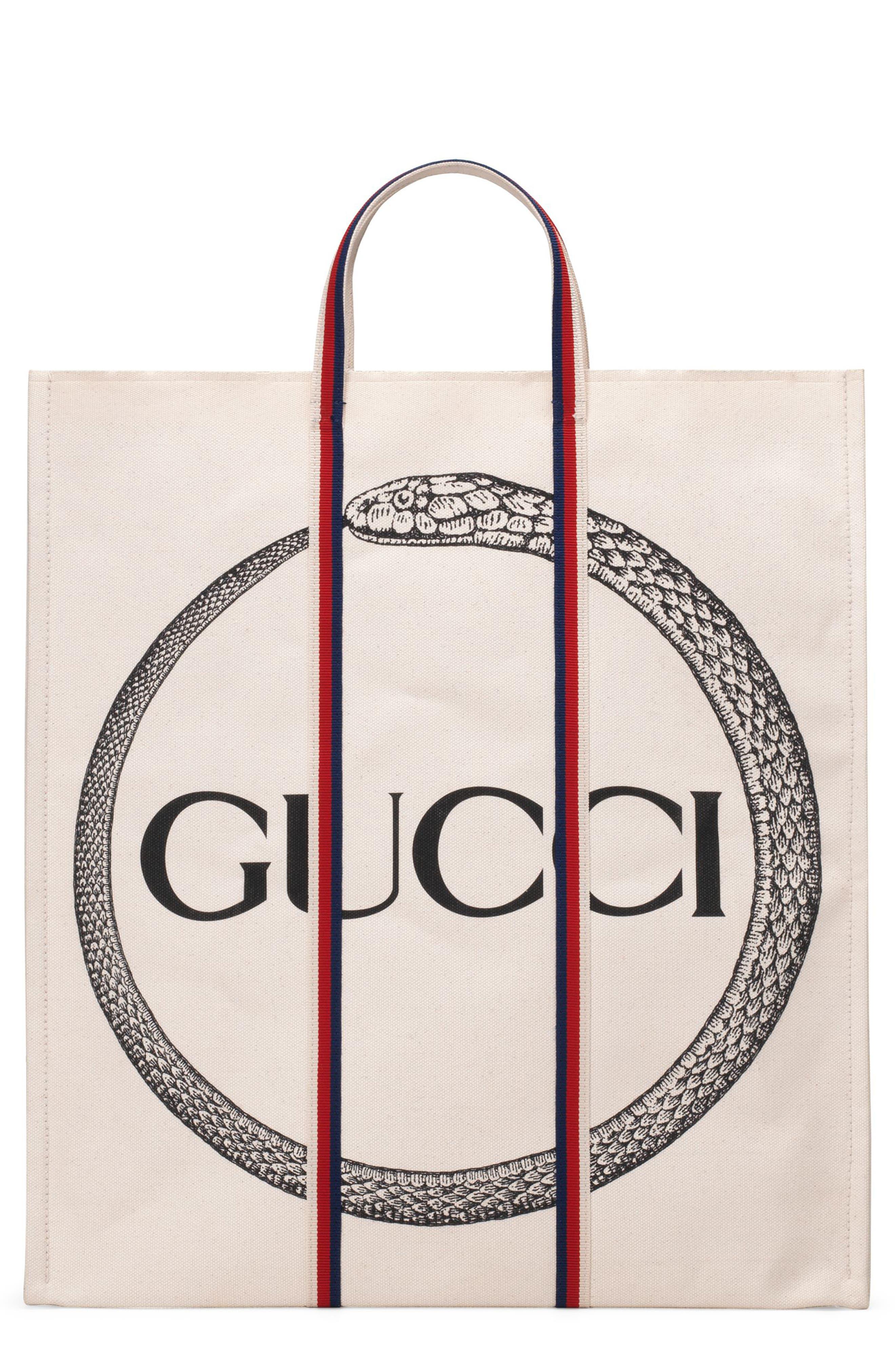 GG Supreme Canvas Tote Bag,                         Main,                         color, 001