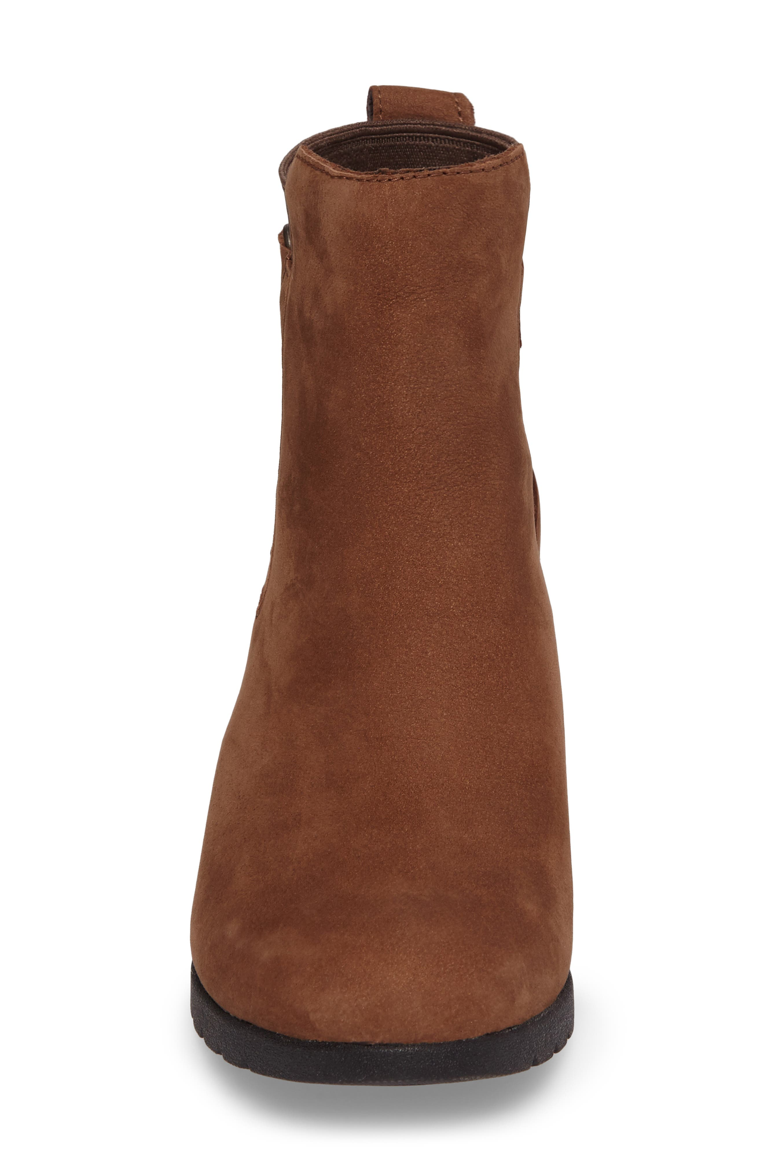 Waterproof Insulated Wedge Boot,                             Alternate thumbnail 4, color,                             STOUT LEATHER