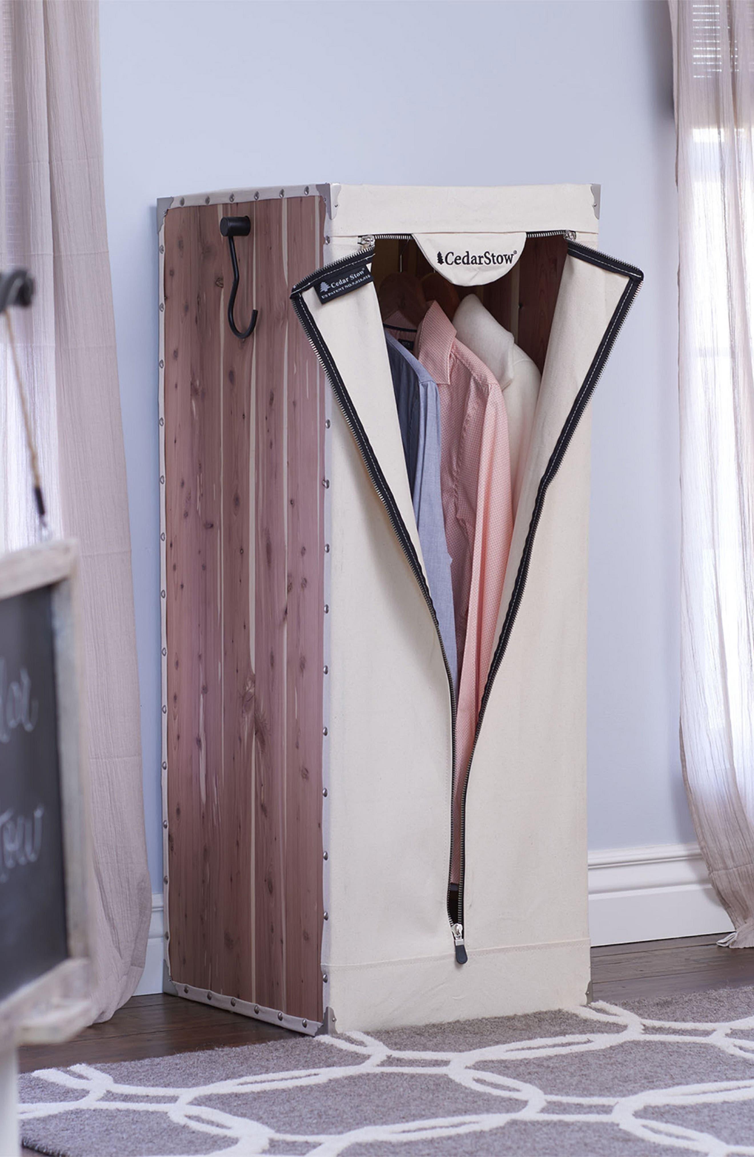 CedarStow Clothing Wardrobe,                             Alternate thumbnail 7, color,                             BEIGE AND CEDAR