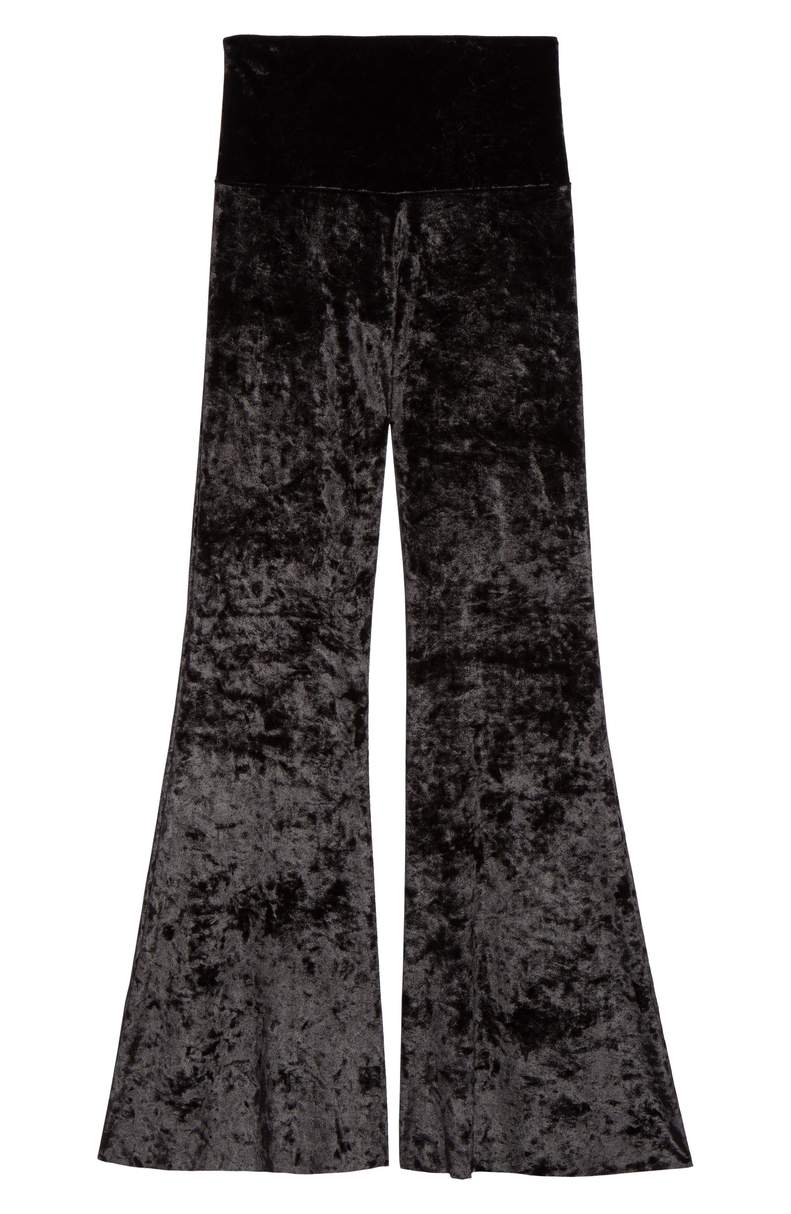 Flare Leg Yoga Pants,                             Alternate thumbnail 7, color,                             002