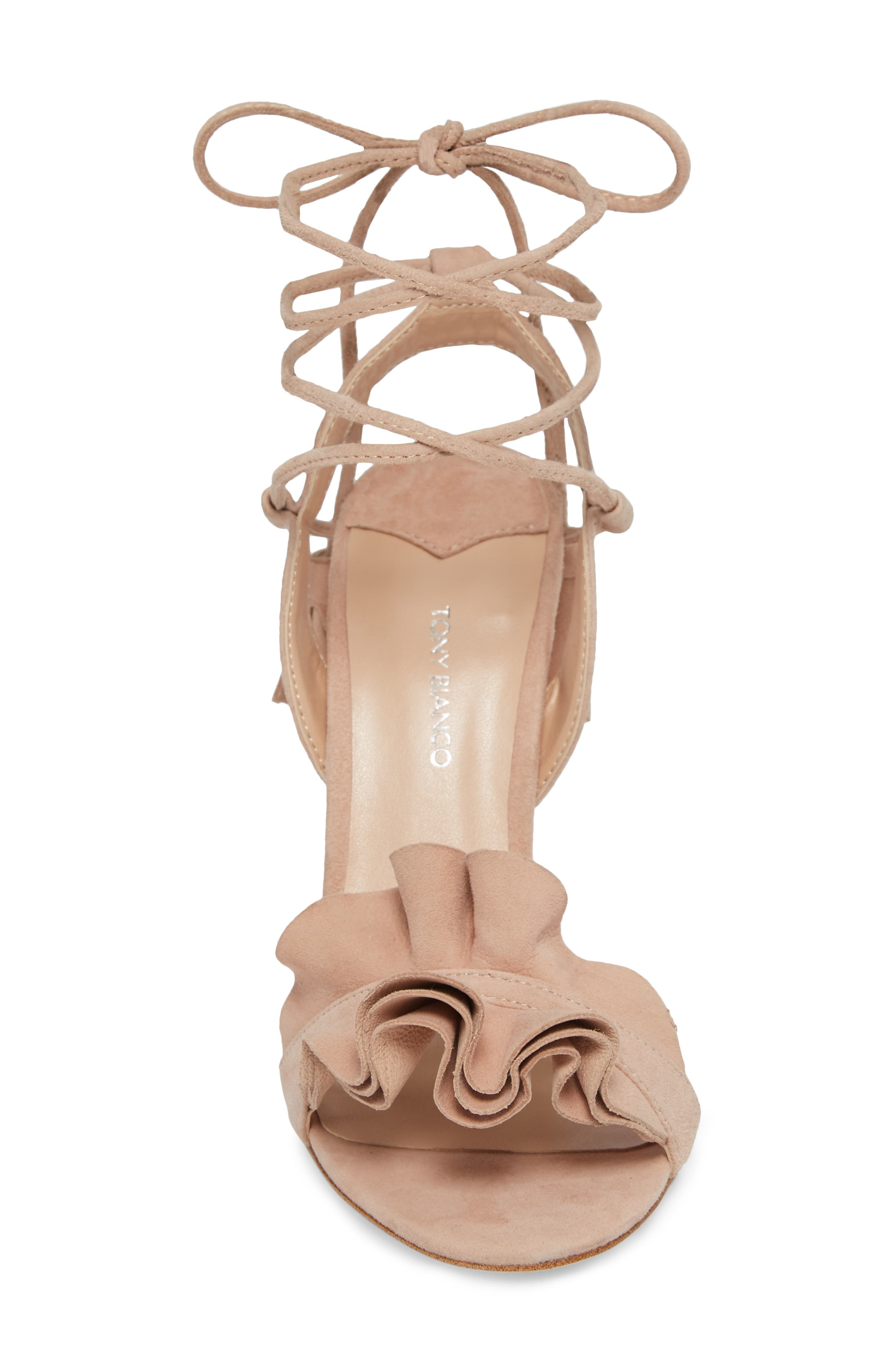Kalipso Ruffled Wraparound Sandal,                             Alternate thumbnail 8, color,