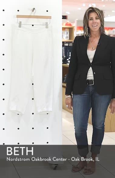 Organic Linen Crop Pants, sales video thumbnail