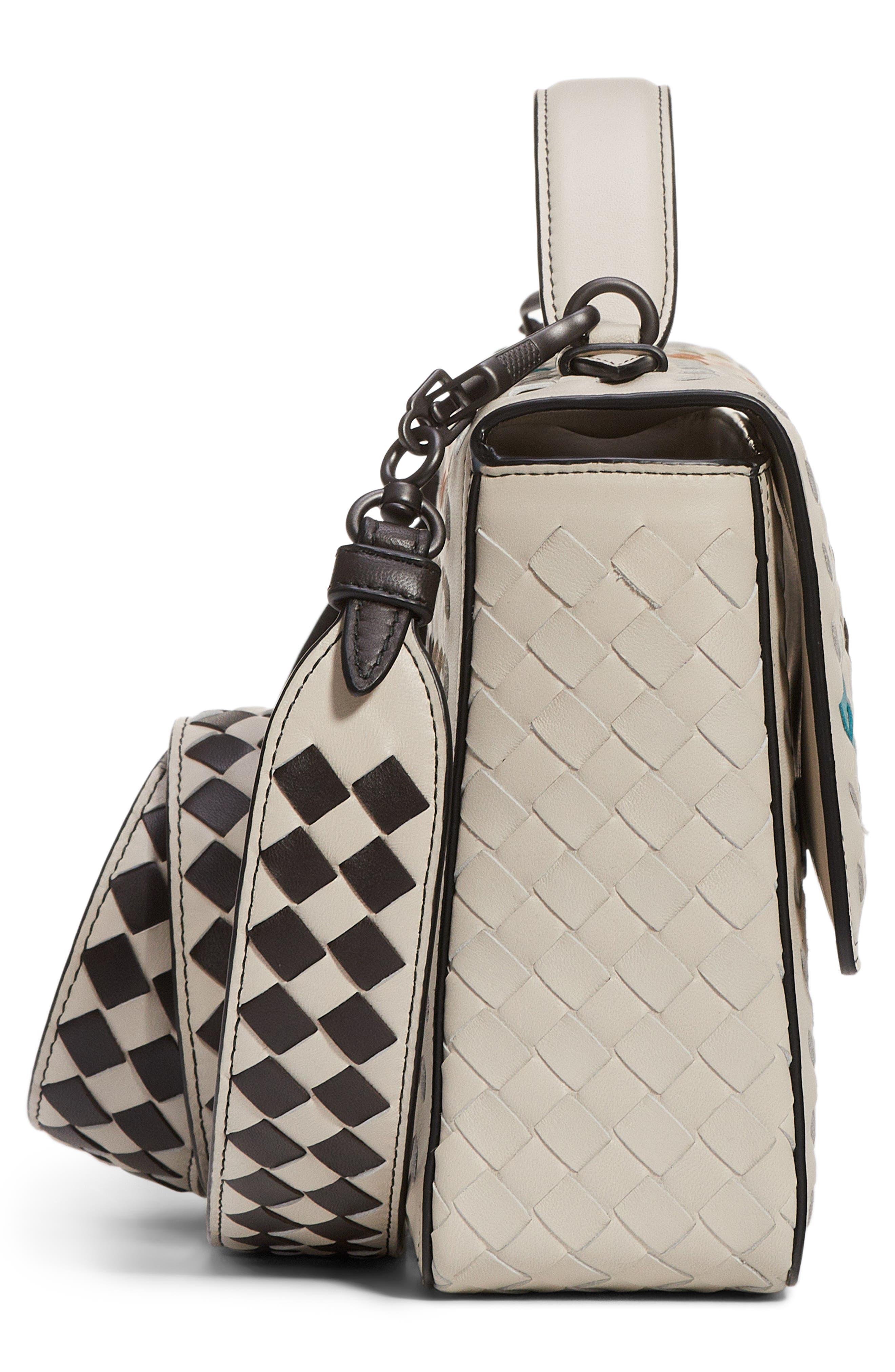 Alumna Leather Crossbody Bag,                             Alternate thumbnail 4, color,                             100