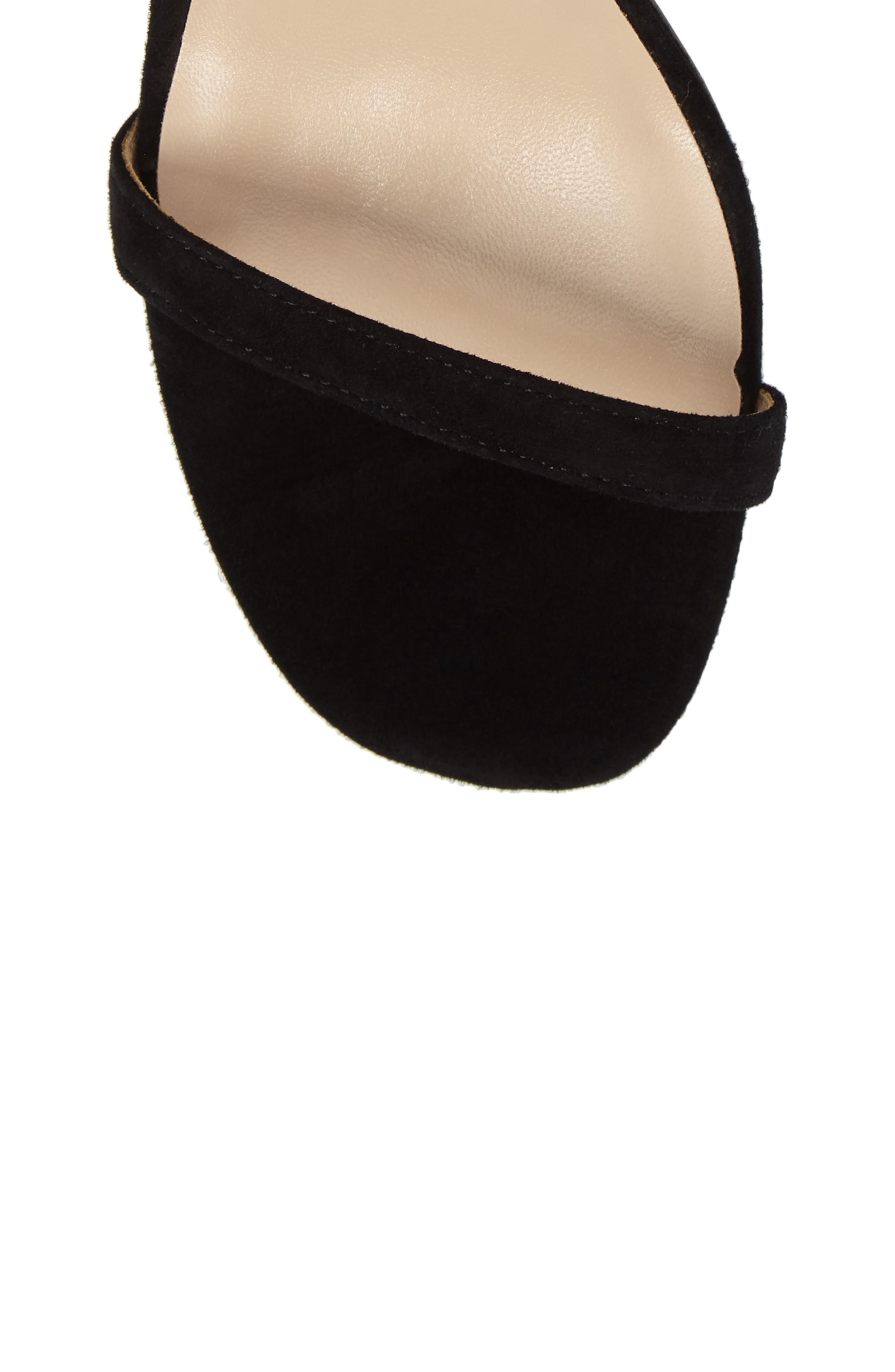 Shanie Clear Heel Sandal,                             Alternate thumbnail 5, color,                             001