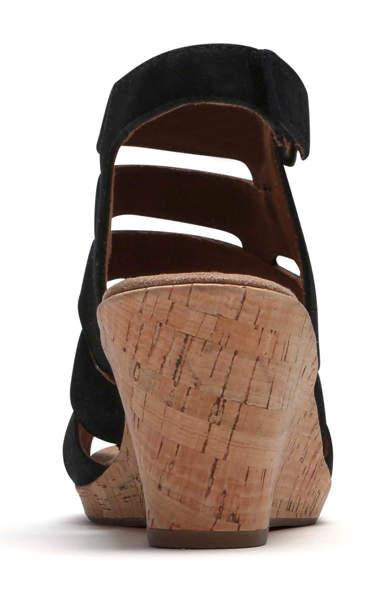 Janna Asymmetrical Sandal,                             Alternate thumbnail 7, color,                             001