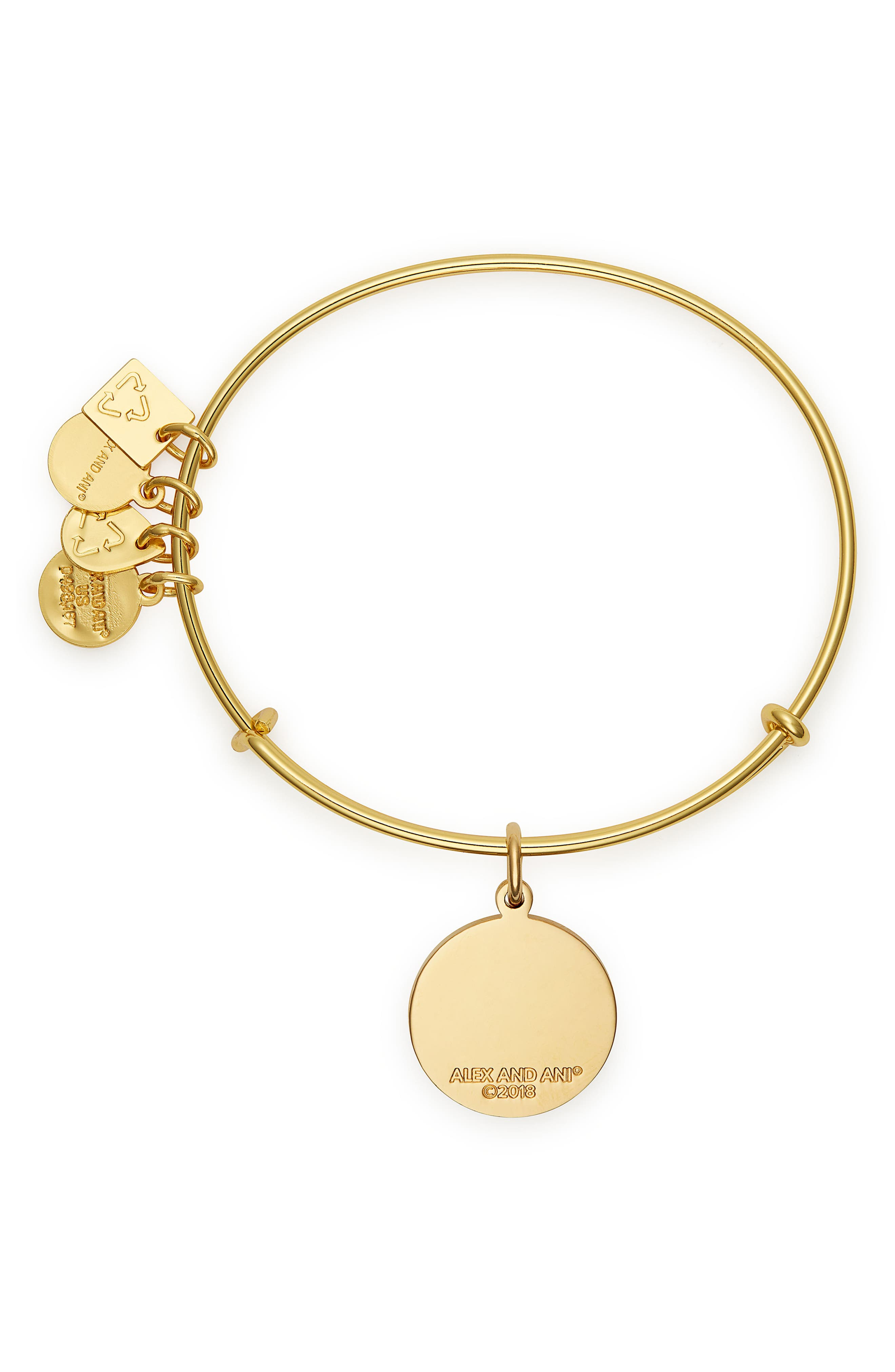 Charity by Design Life is Good Bangle,                             Alternate thumbnail 2, color,                             GOLD