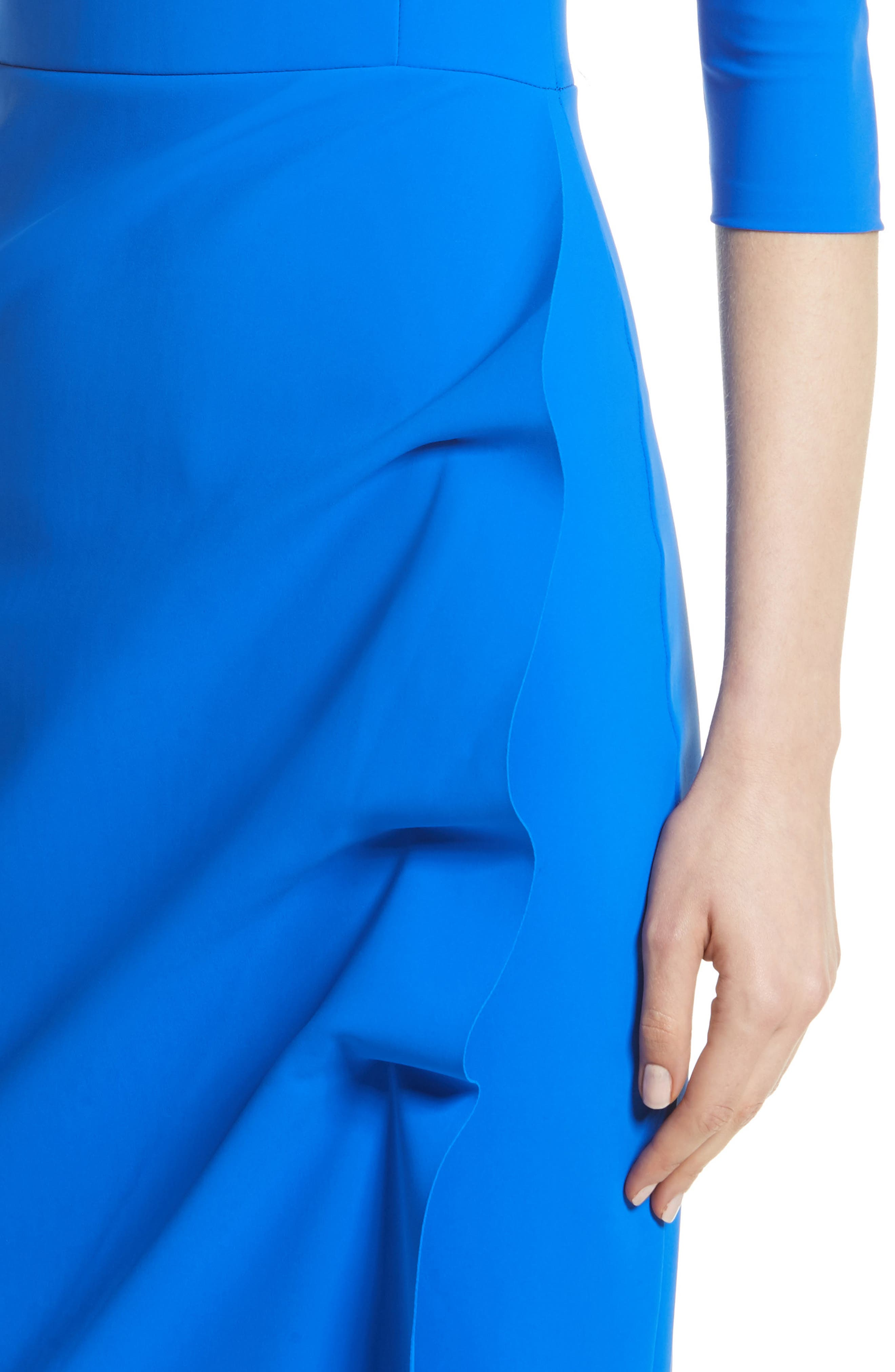 Slit Bodice Drape Front Gown,                             Alternate thumbnail 4, color,                             COLBALT