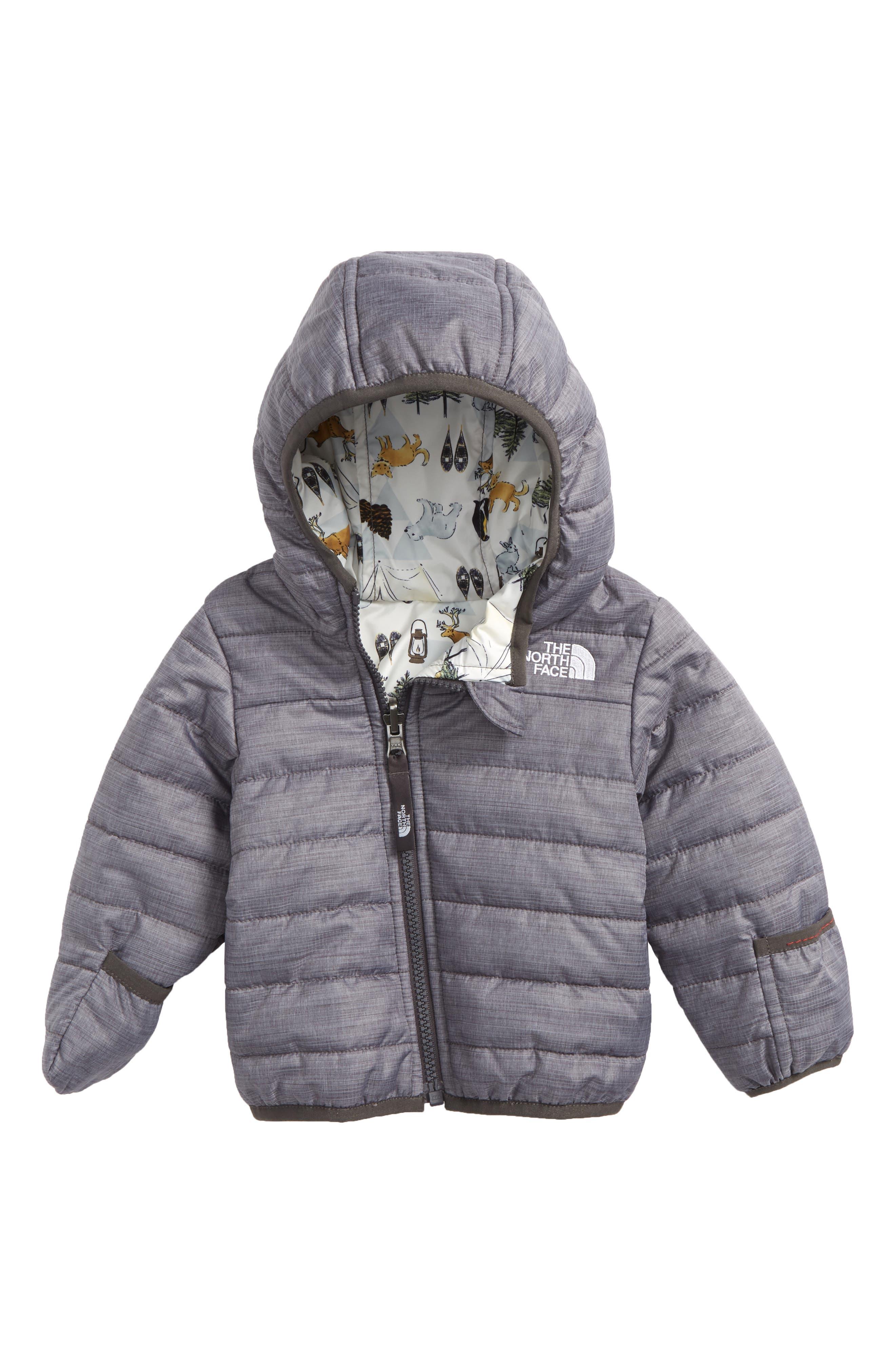 Perrito Reversible Water Repellent Heatseeker<sup>™</sup> Insulated Jacket,                         Main,                         color, GREY HEATHER/ GRAPHITE GREY