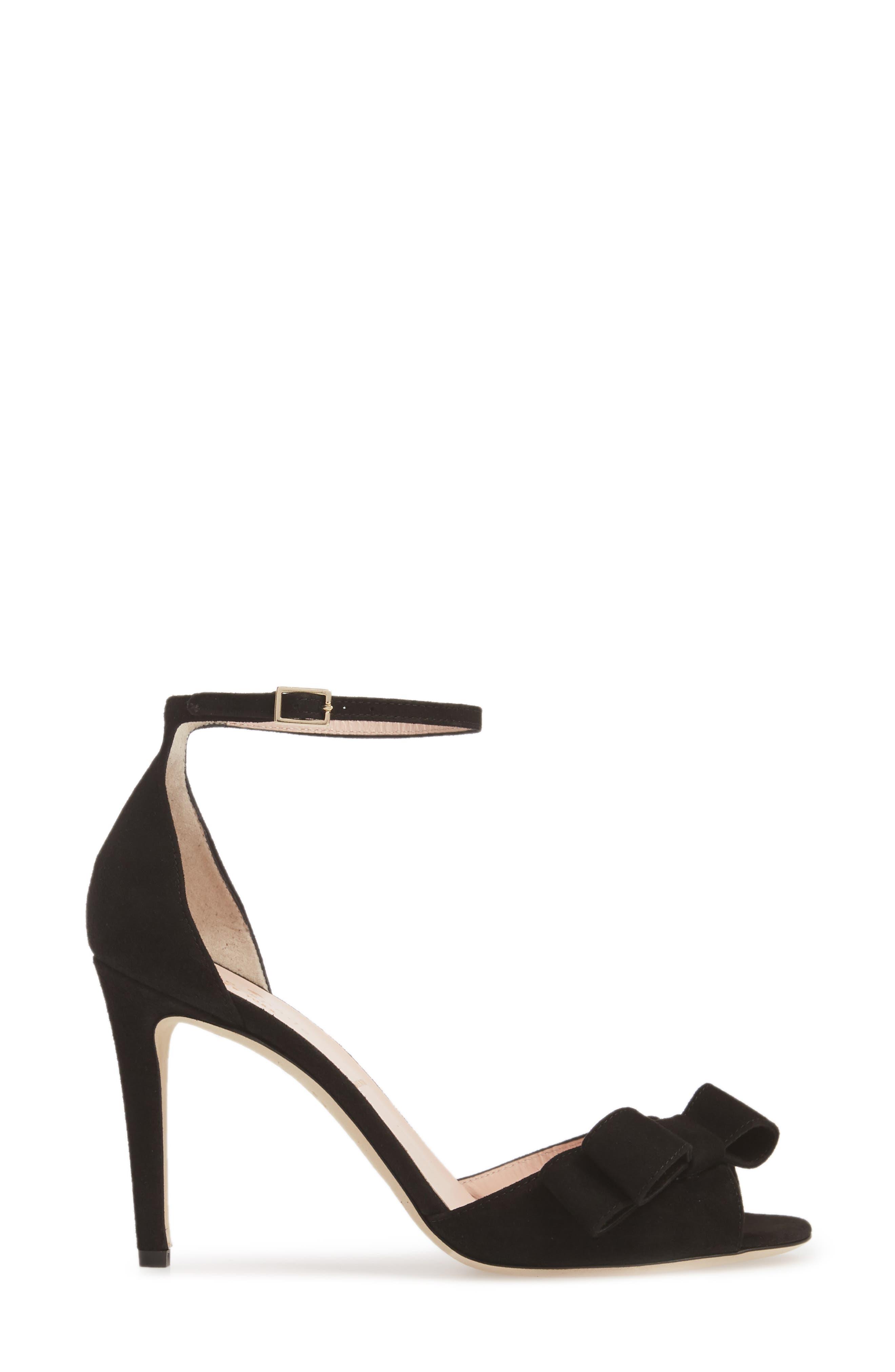 ismay ankle strap sandal,                             Alternate thumbnail 3, color,                             001