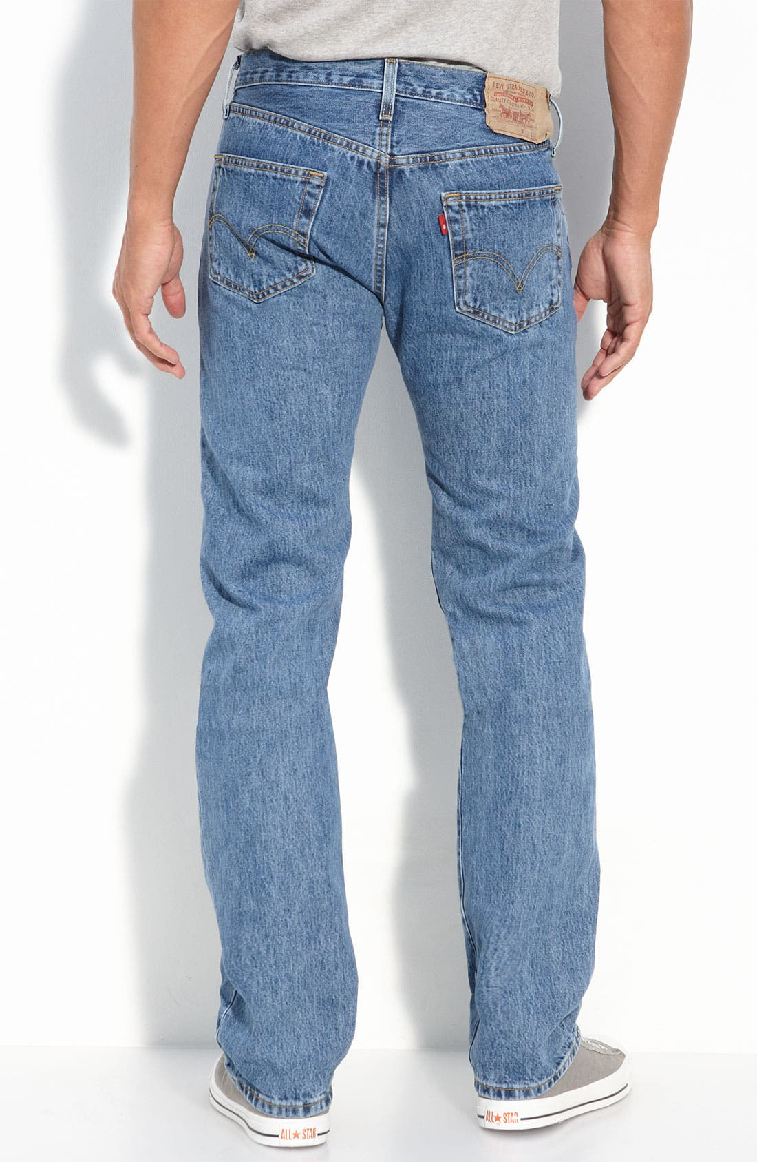 Red Tab<sup>™</sup> '501' Original Fit Button Fly Jeans,                             Main thumbnail 1, color,                             458
