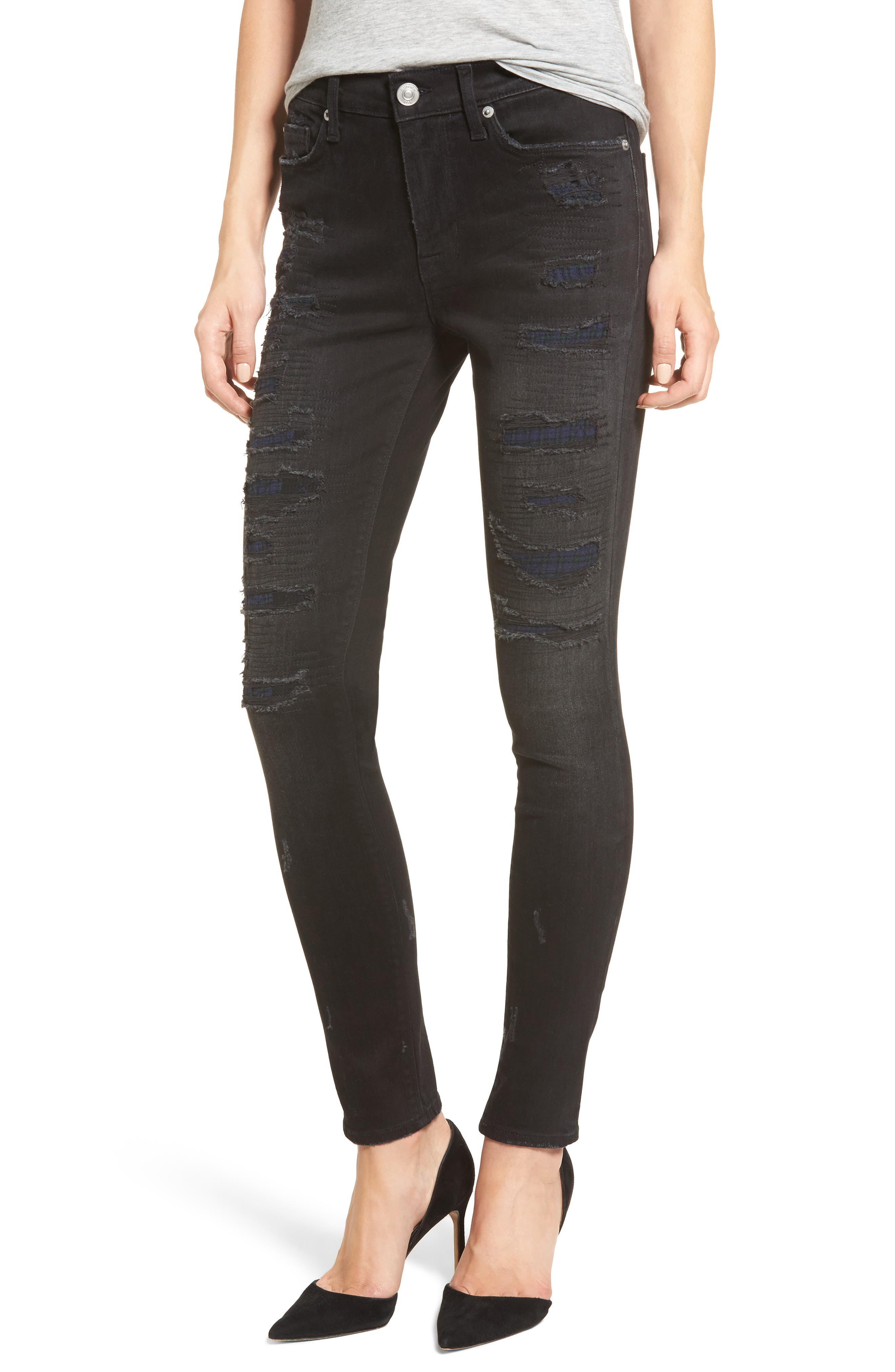 Nico Ripped Super Skinny Jeans,                             Main thumbnail 1, color,                             003