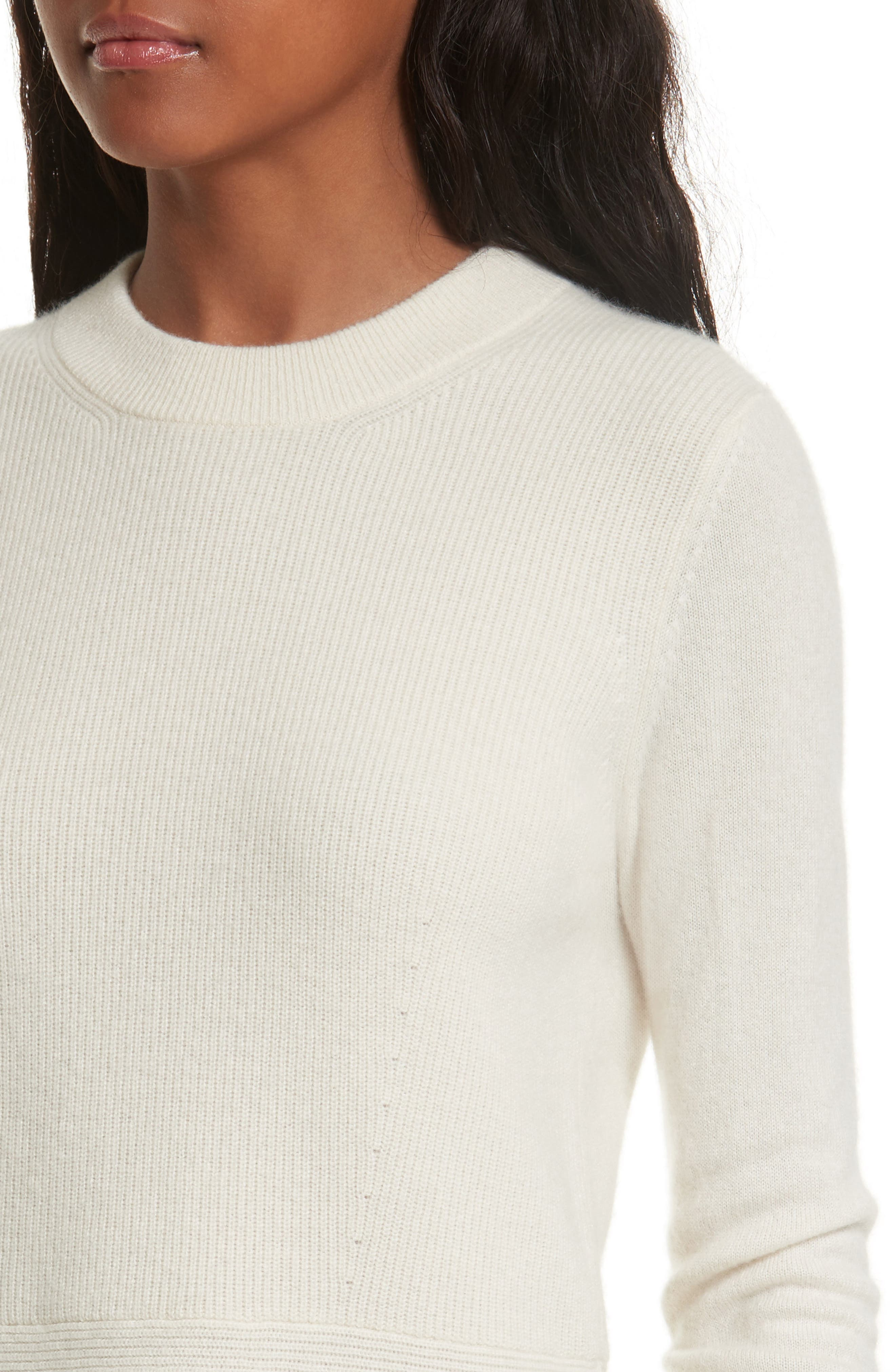 Raleigh Cashmere Peplum Sweater,                             Alternate thumbnail 12, color,