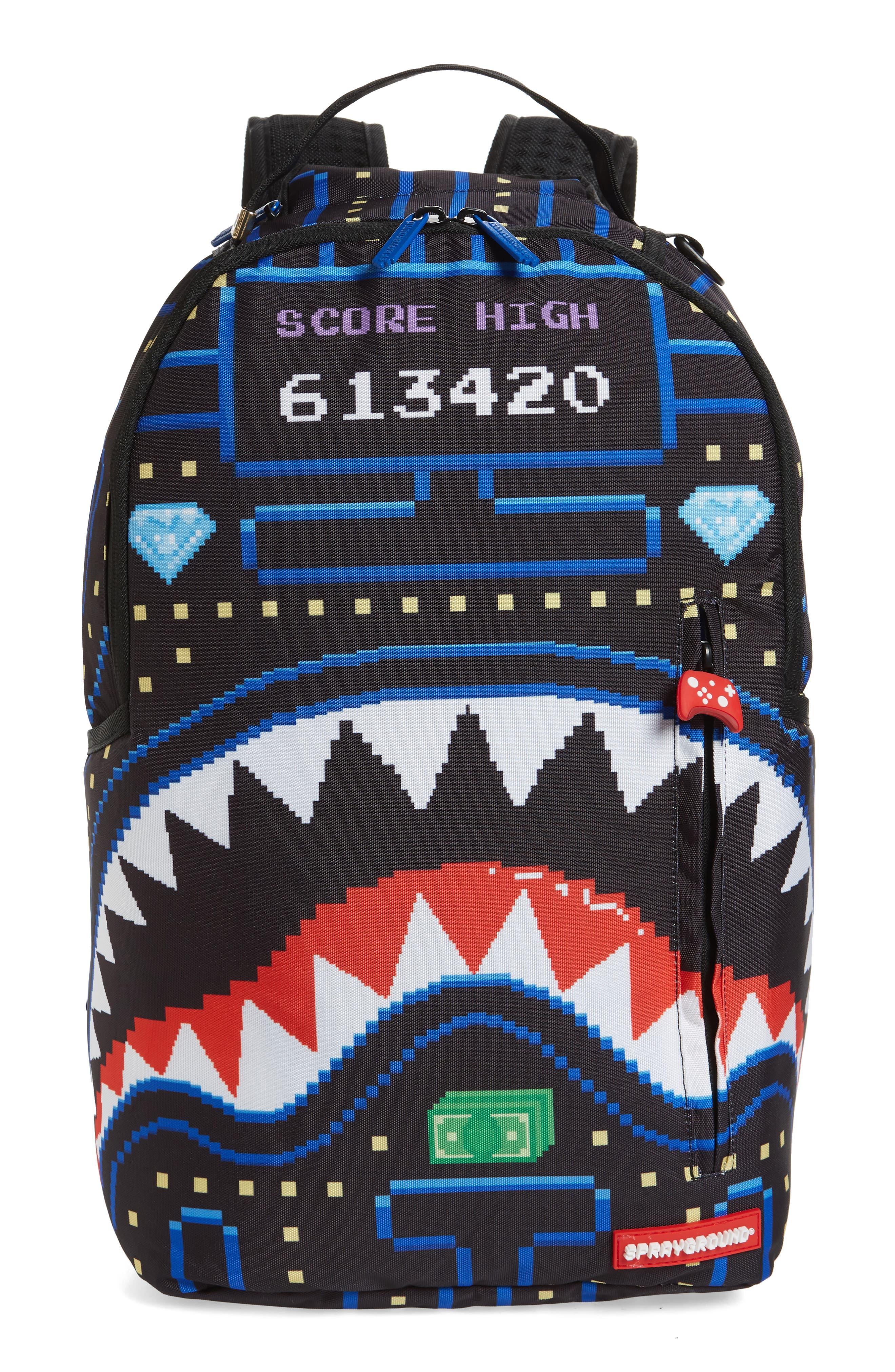 Sprayground Arcade Sharks Backpack - Black