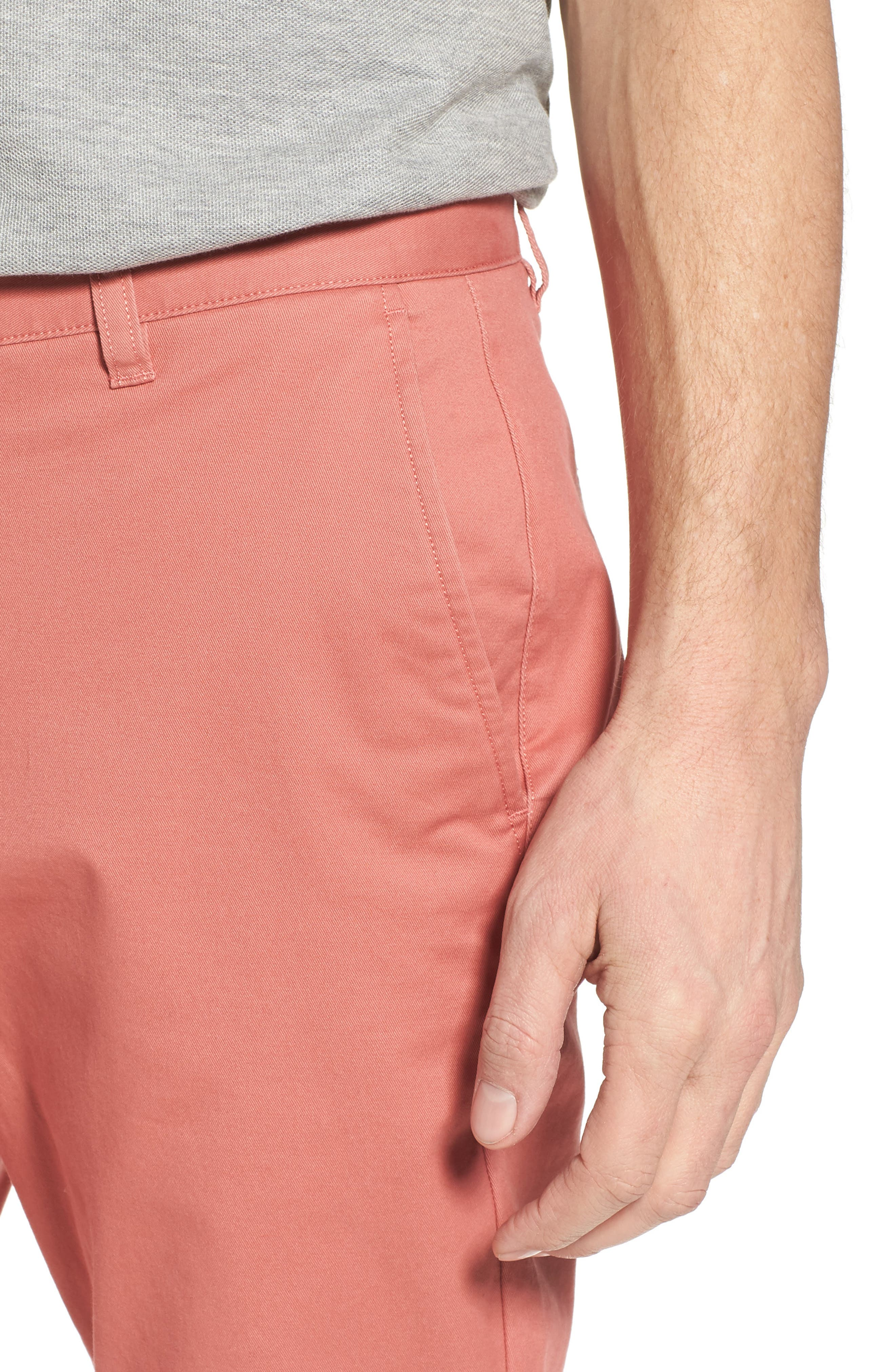 Tailored Fit Washed Stretch Cotton Chinos,                             Alternate thumbnail 129, color,