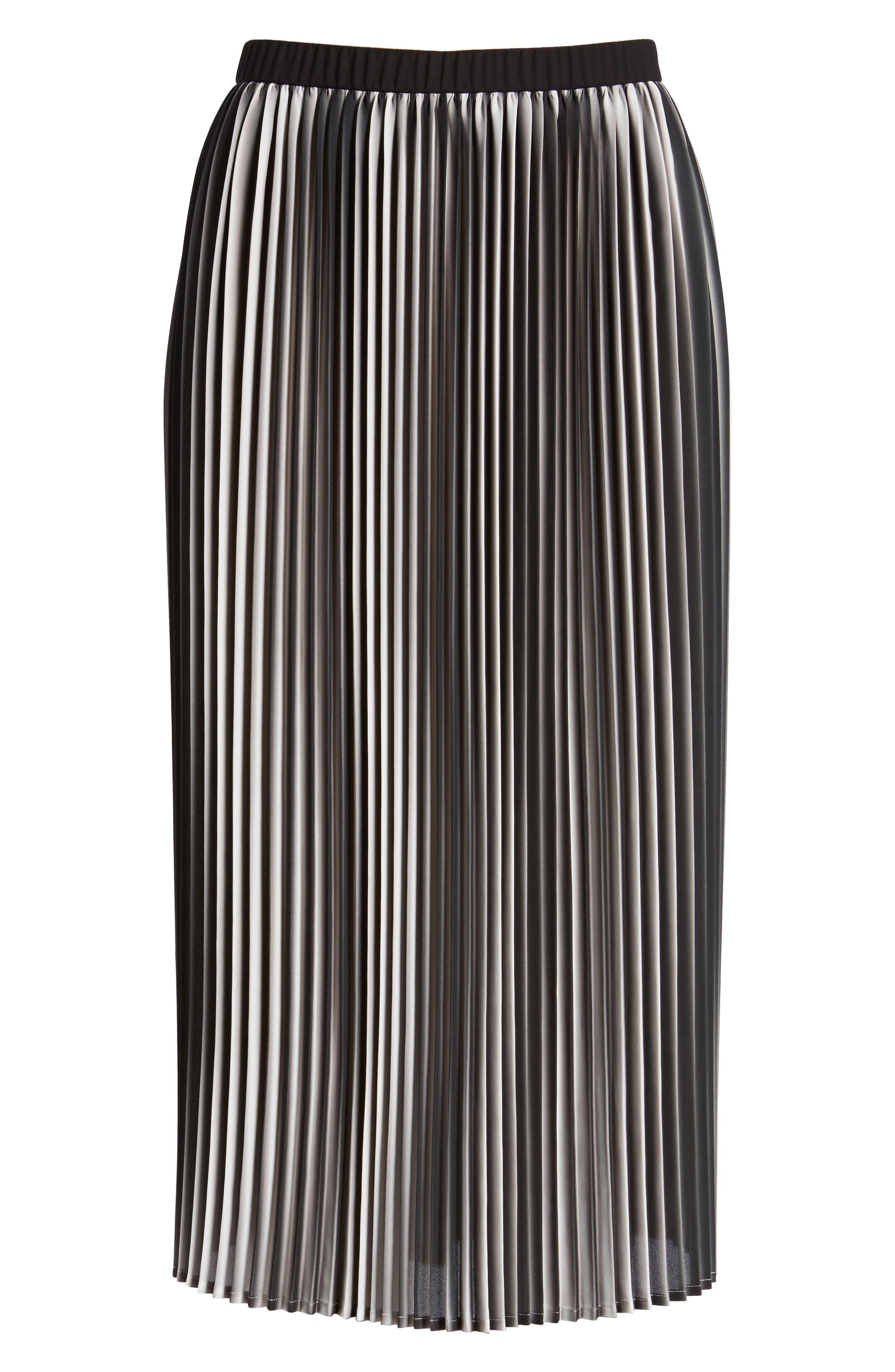 Printed Pleated Skirt,                             Alternate thumbnail 6, color,                             105