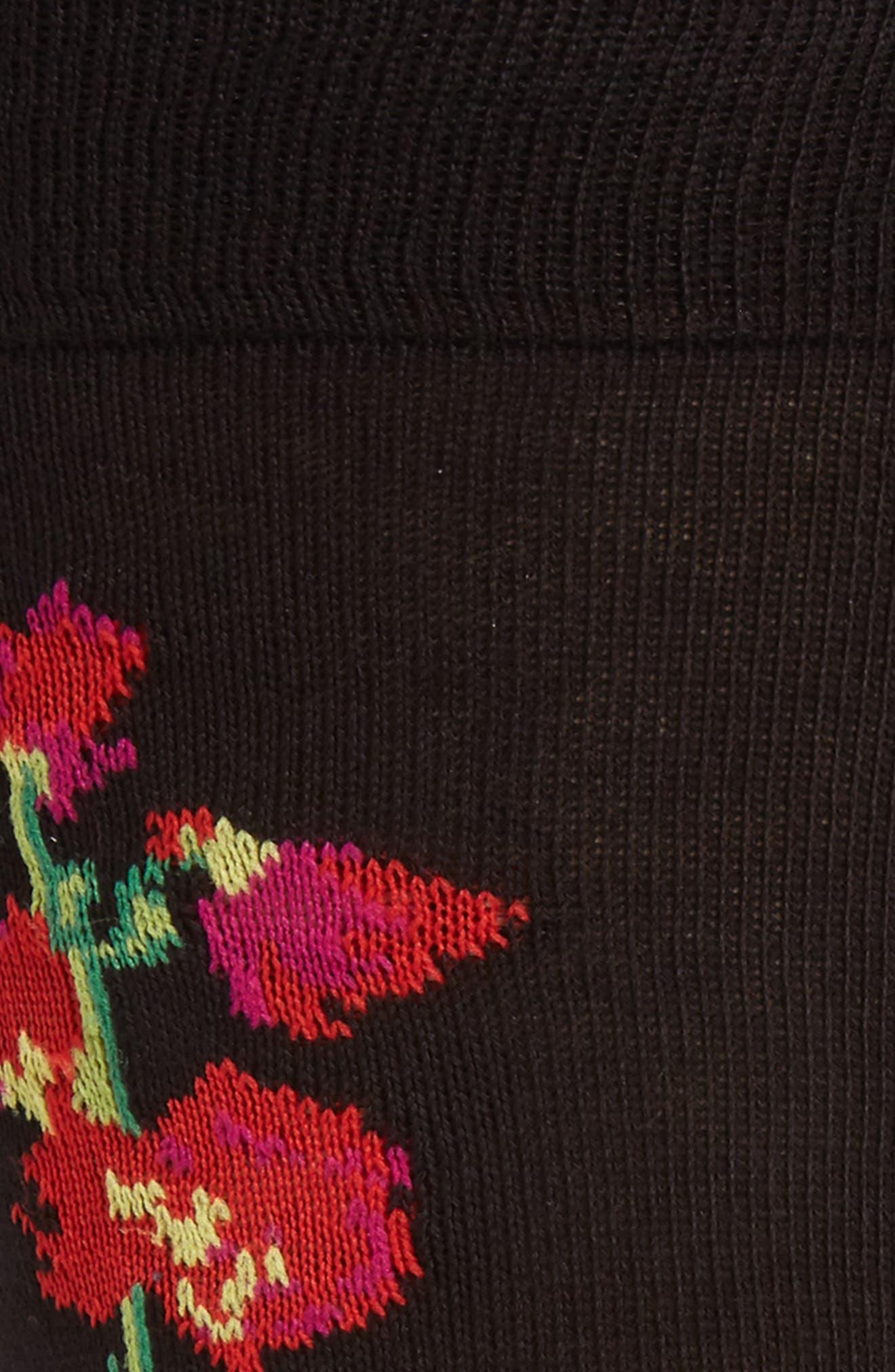 Mainline Floral Socks,                             Alternate thumbnail 3, color,