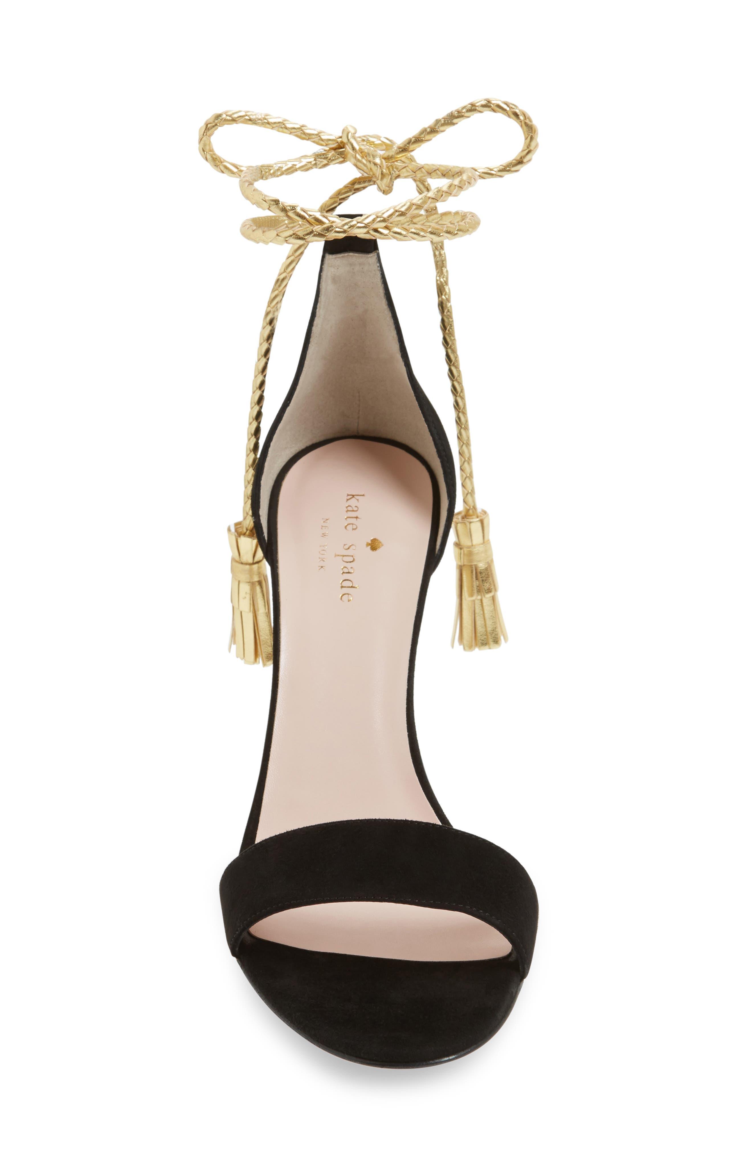 inez wraparound sandal,                             Alternate thumbnail 3, color,                             001