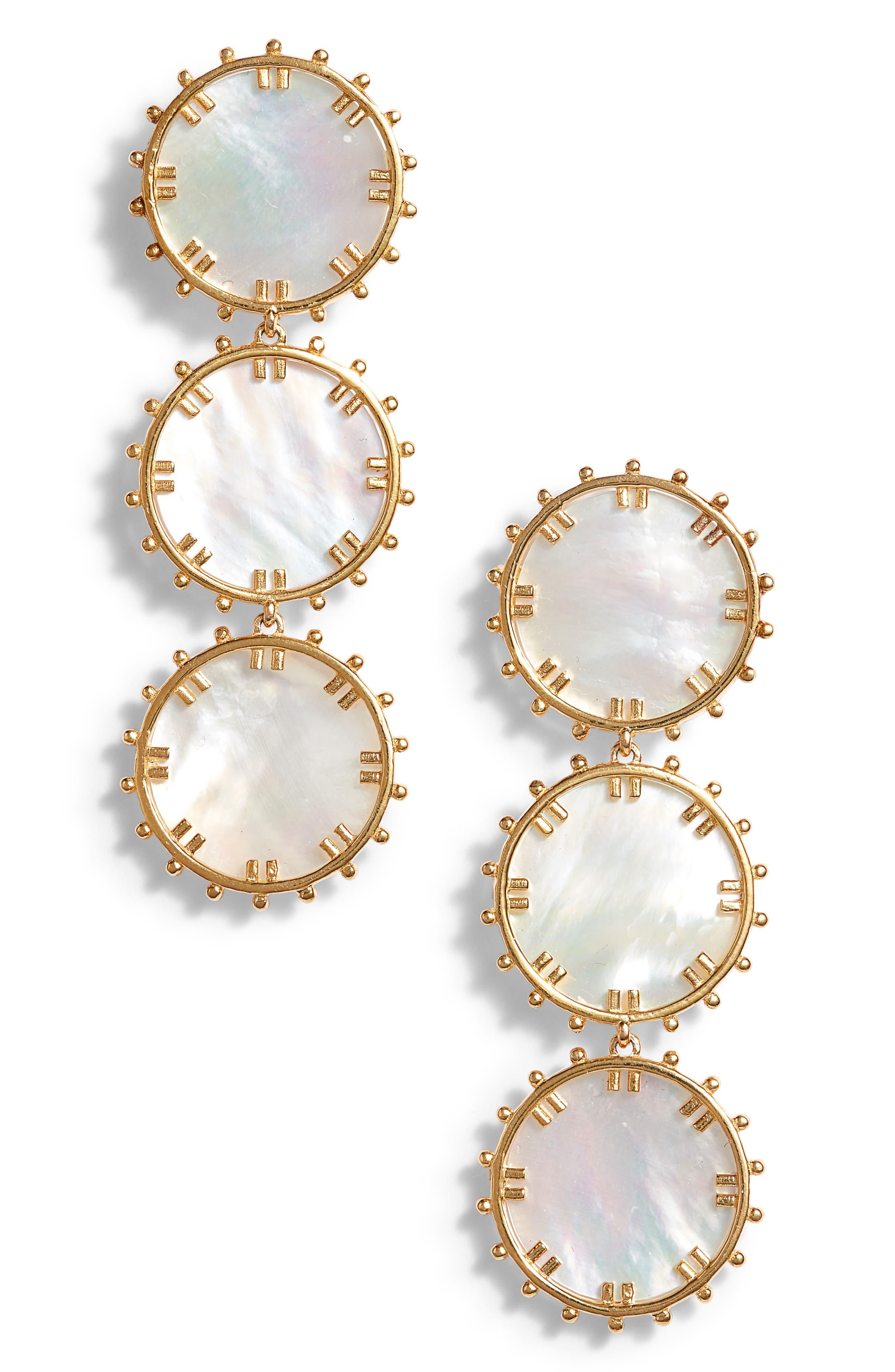 Manou Mother-of-Pearl Drop Earrings,                             Main thumbnail 1, color,                             100