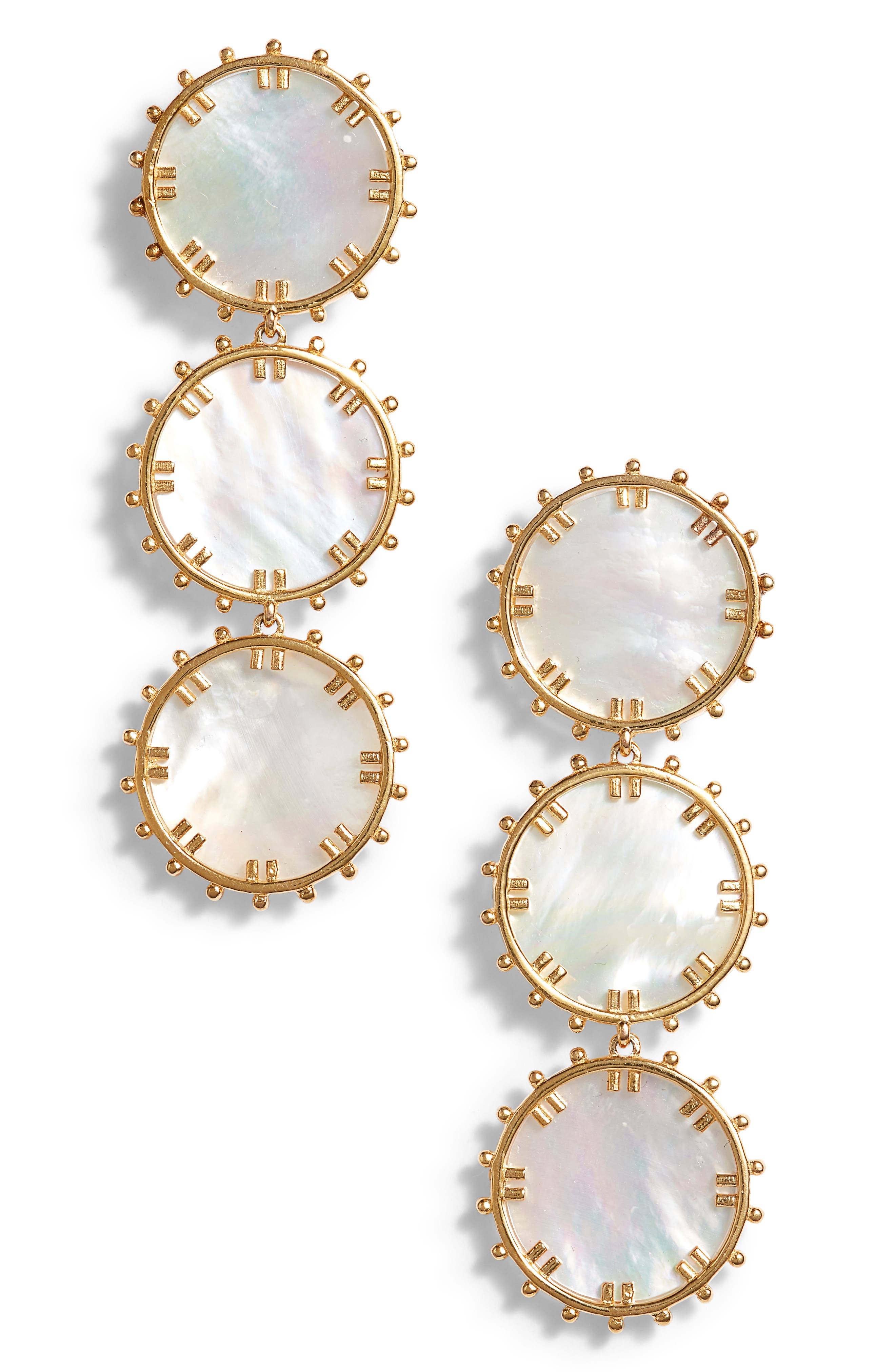 Manou Mother-of-Pearl Drop Earrings,                         Main,                         color, 100