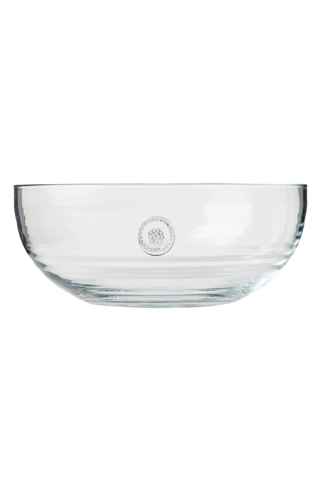 Berry & Thread Large Glass Bowl,                             Main thumbnail 1, color,                             CLEAR