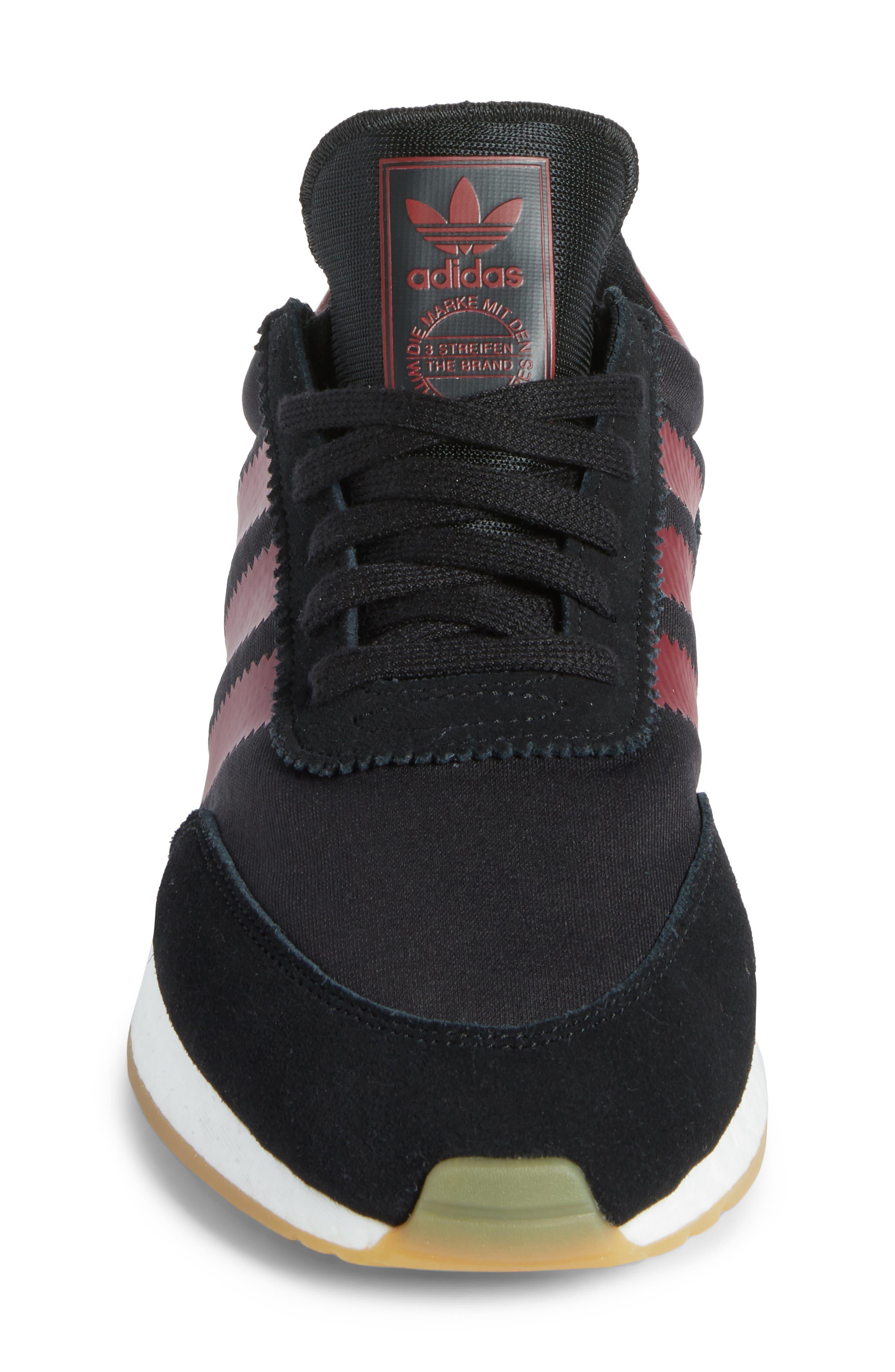 I-5923 Sneaker,                             Alternate thumbnail 4, color,                             BLACK/ BURGUNDY/ WHITE