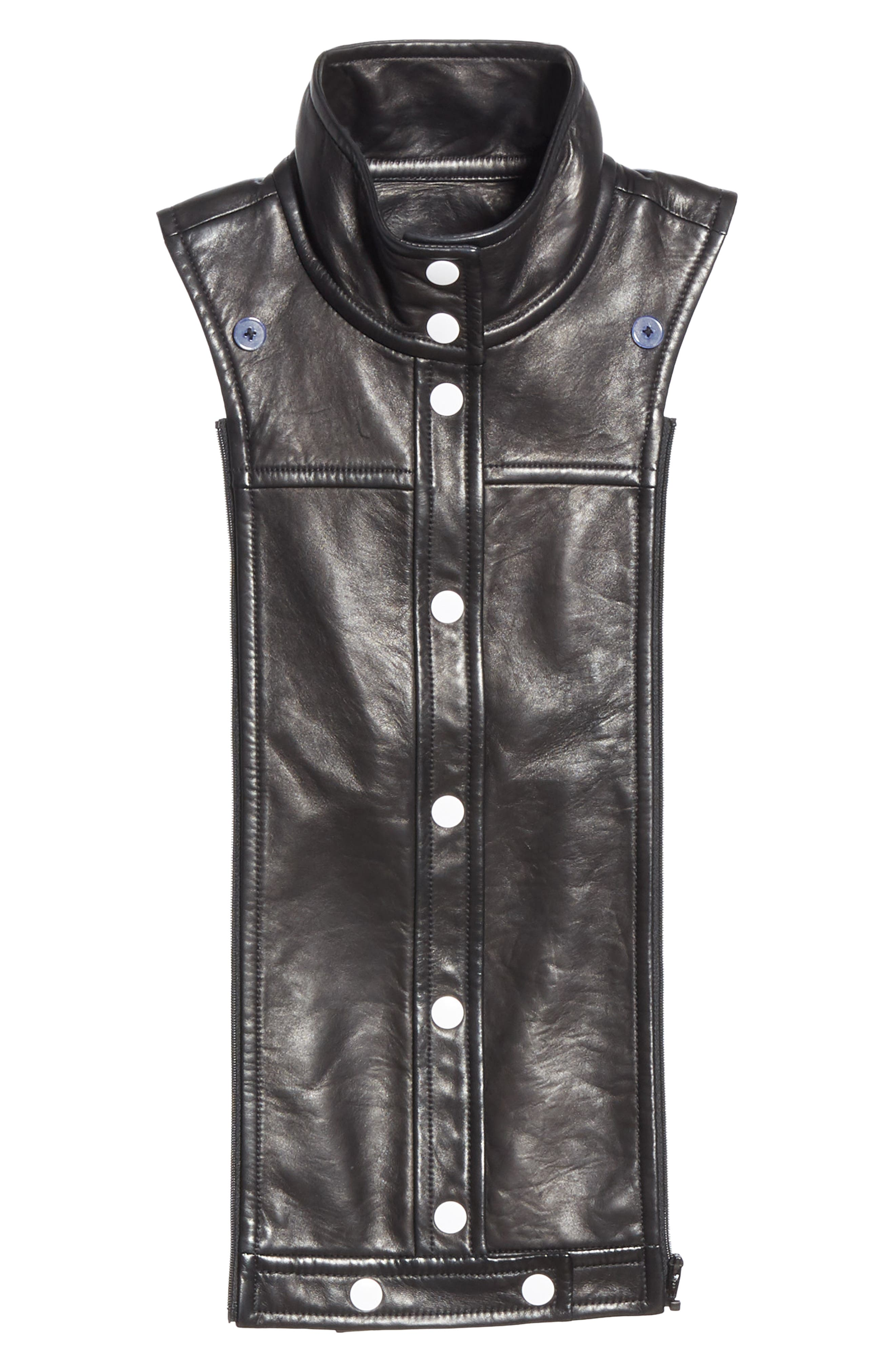 Rocco Leather Dickey,                             Main thumbnail 1, color,                             BLACK