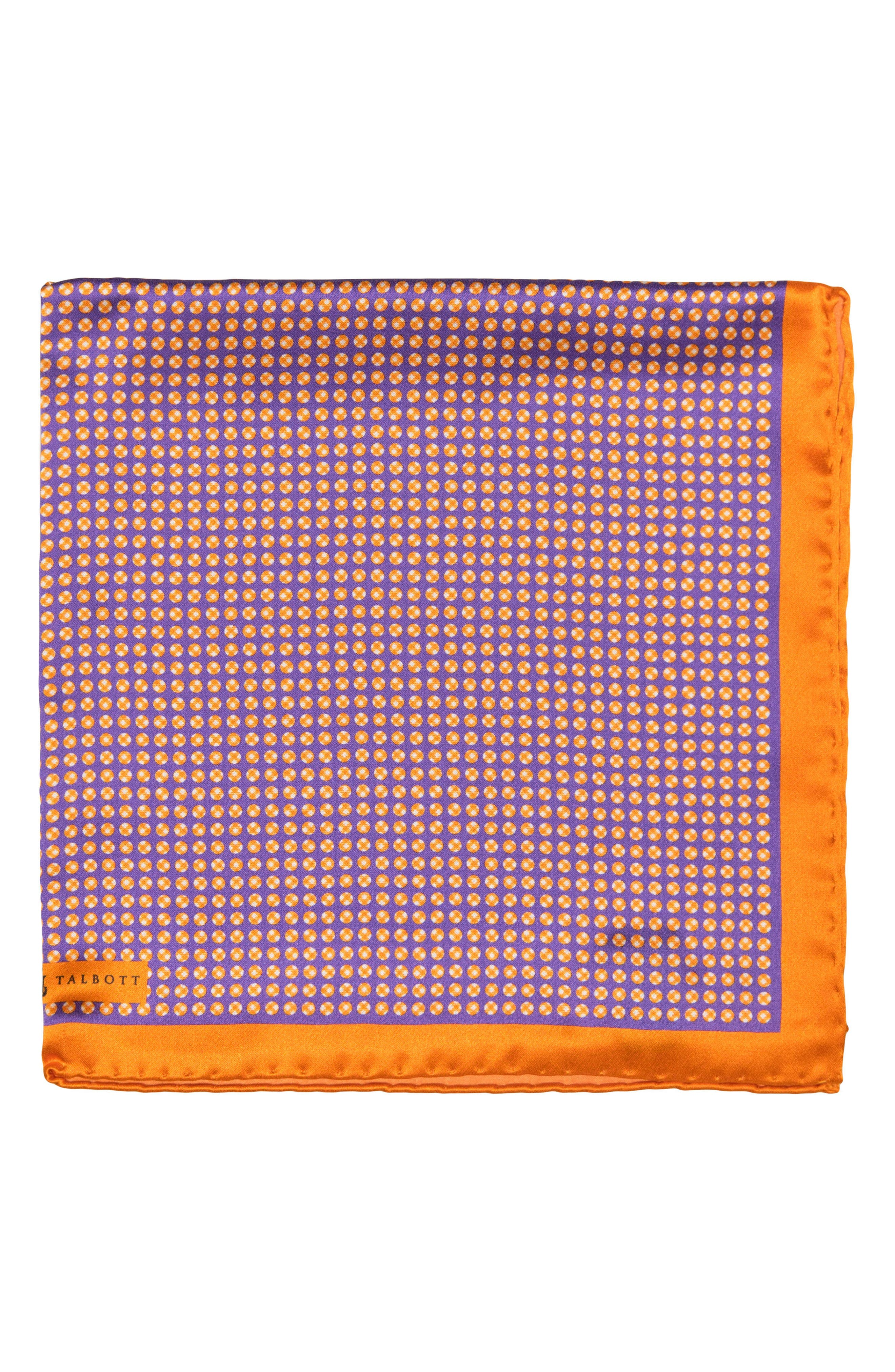 Dot Silk Pocket Square,                             Main thumbnail 2, color,