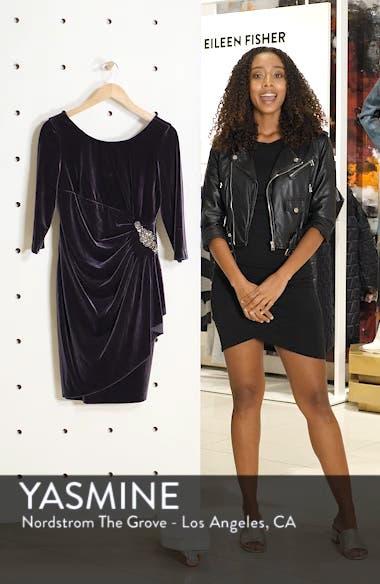 Side Ruched Velvet Cocktail Dress, sales video thumbnail