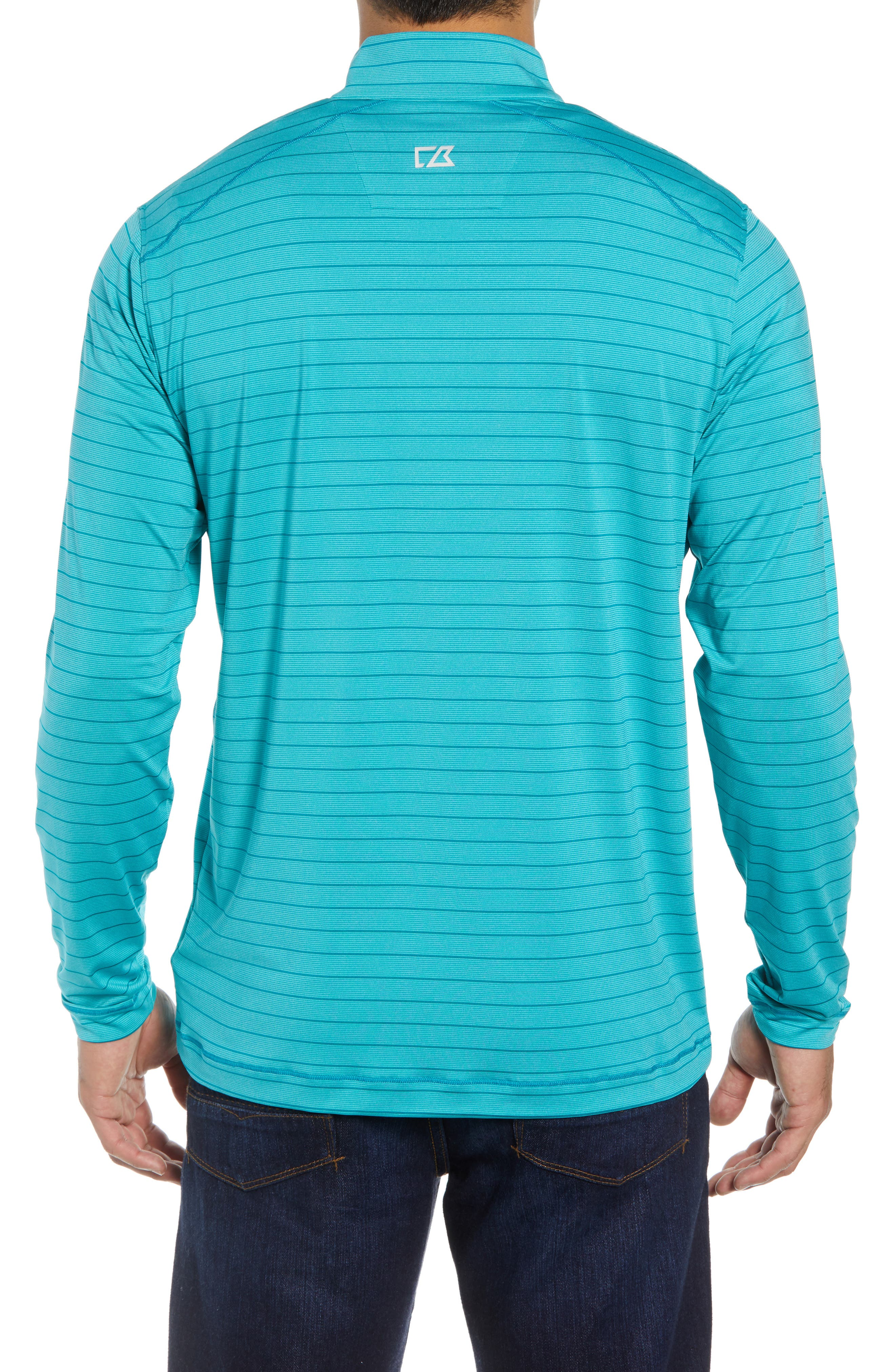 Holman Stripe Half Zip Pullover,                             Alternate thumbnail 2, color,                             AQUATIC HEATHER