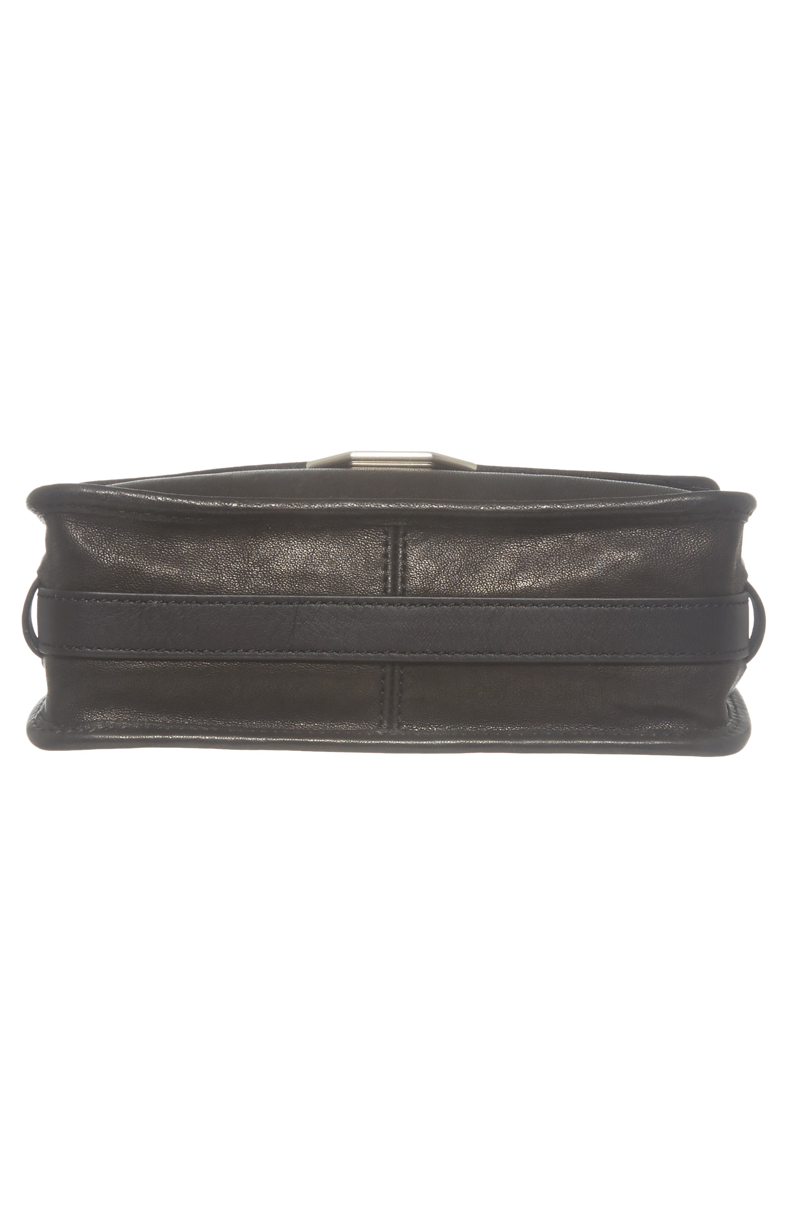 Leather Field Clutch,                             Alternate thumbnail 6, color,                             001