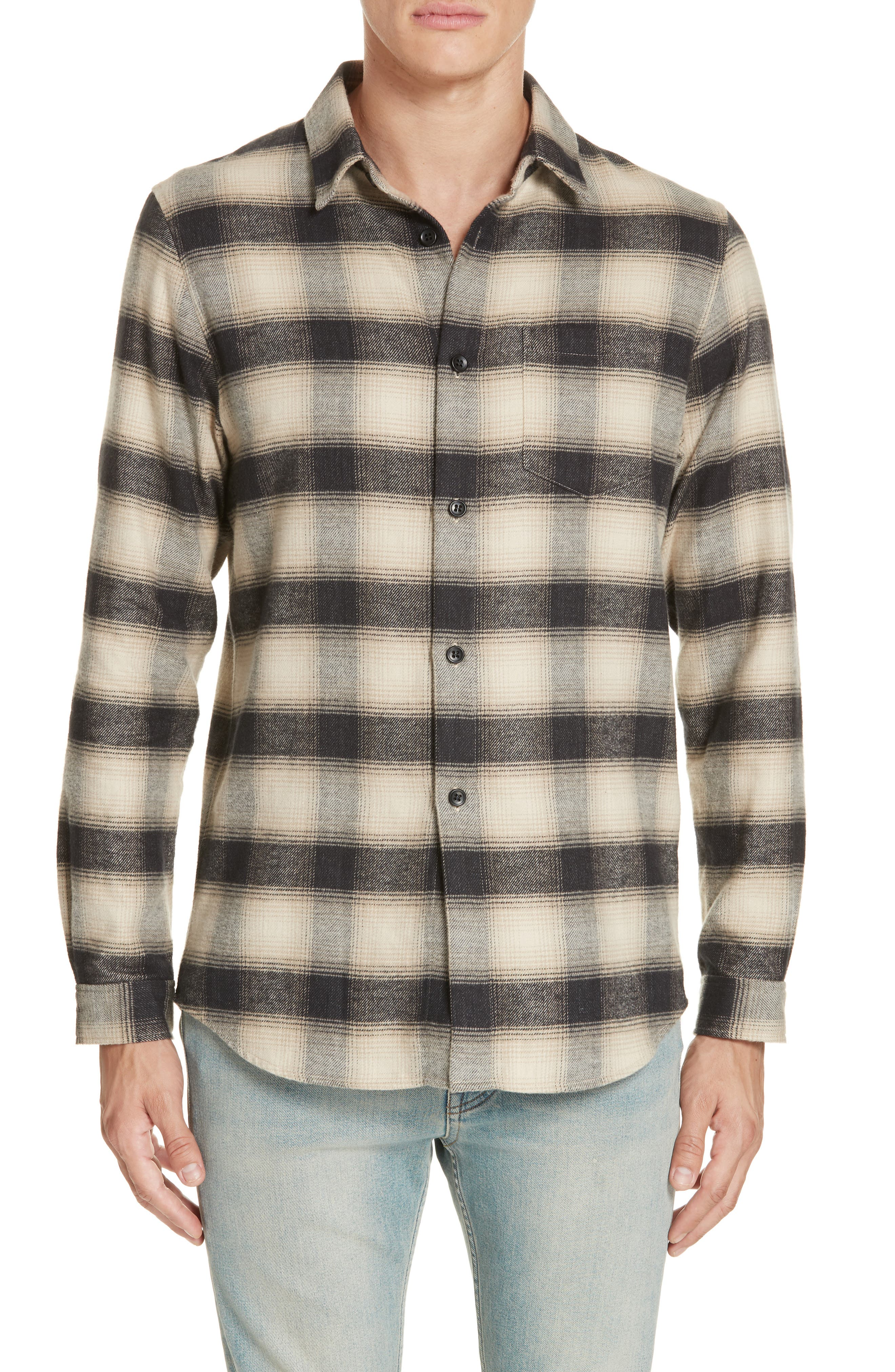 Brushed Flannel Shirt,                             Main thumbnail 1, color,                             101