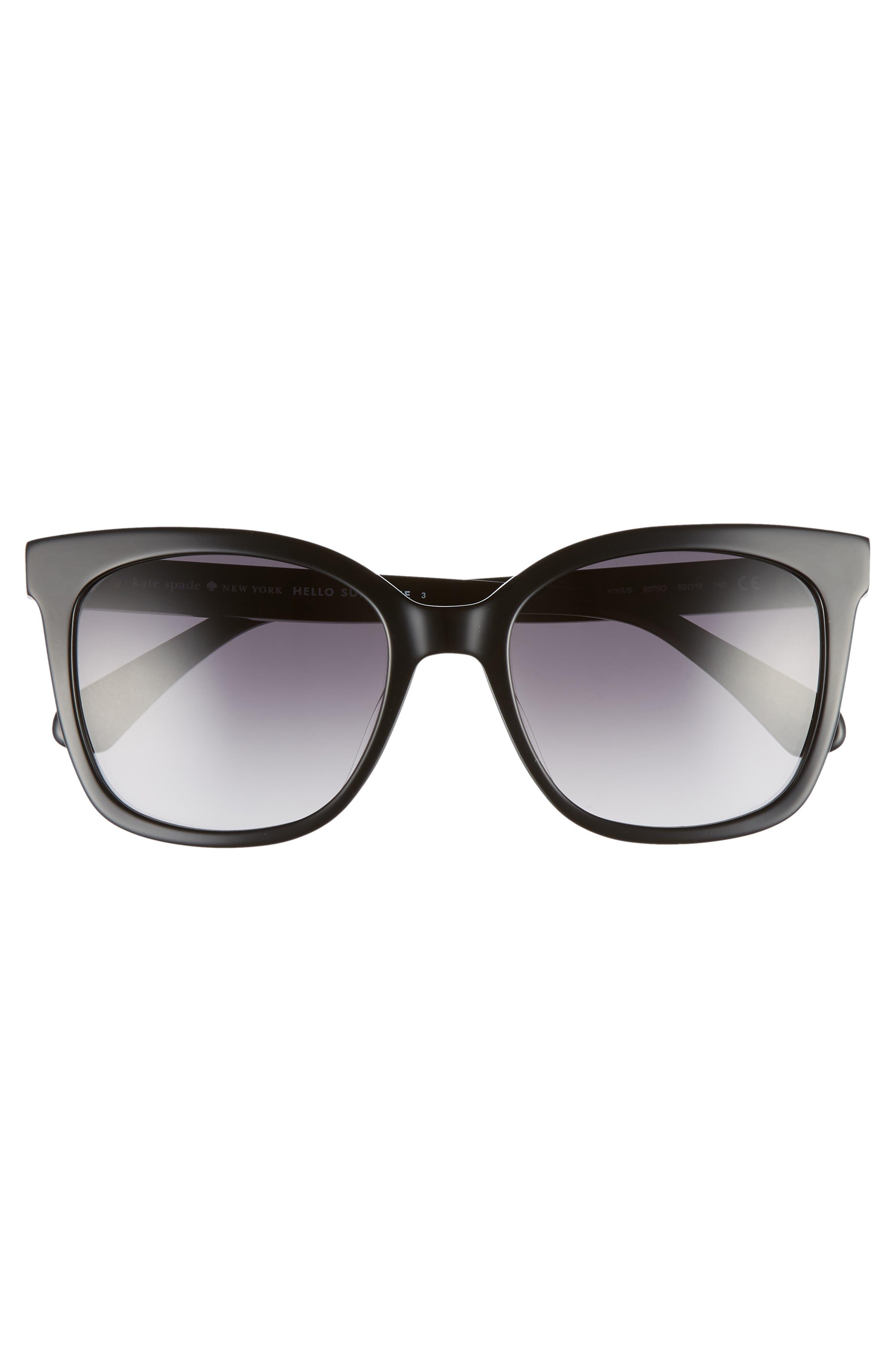 kiya 53mm sunglasses,                             Alternate thumbnail 3, color,                             BLACK