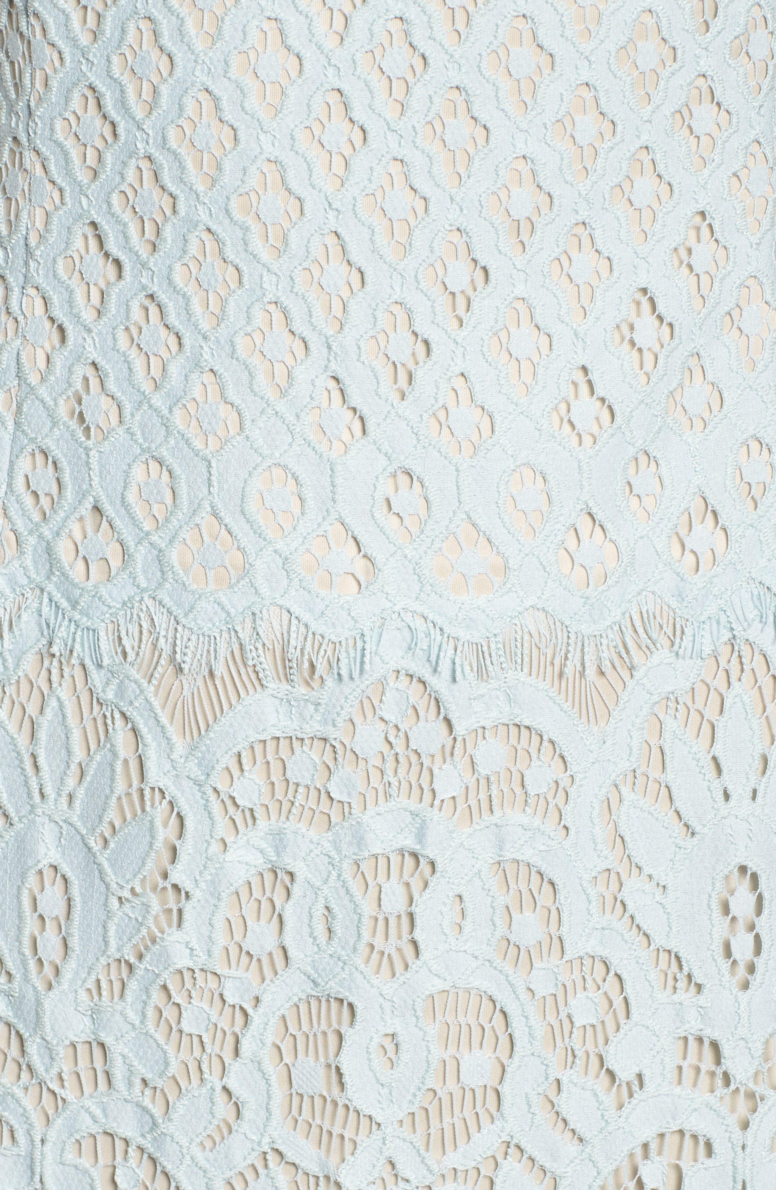 Illusion Neck Lace Column Gown,                             Alternate thumbnail 5, color,                             400