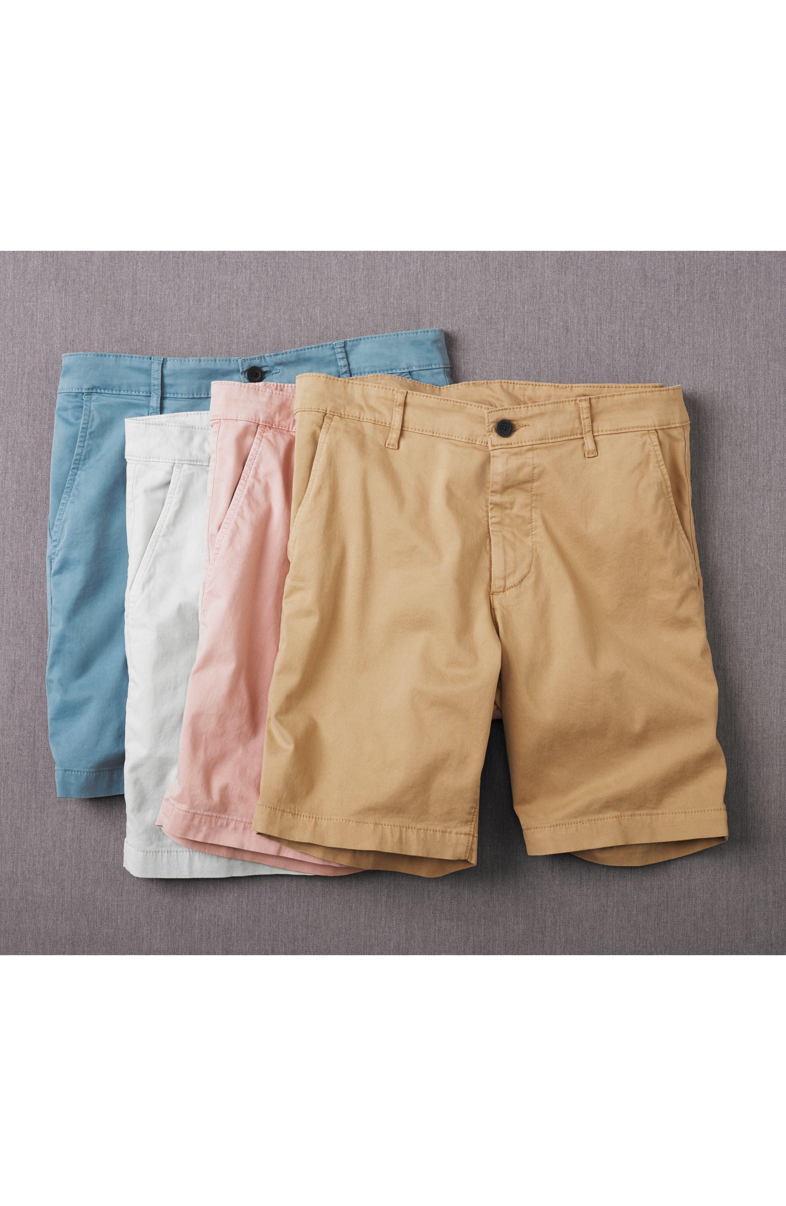 Wanderer Modern Slim Fit Shorts,                             Alternate thumbnail 8, color,                             MORNING MIST