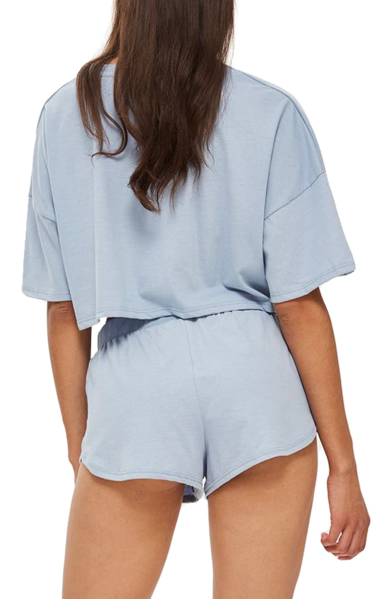 Jersey Crop Pajamas,                             Alternate thumbnail 2, color,                             400