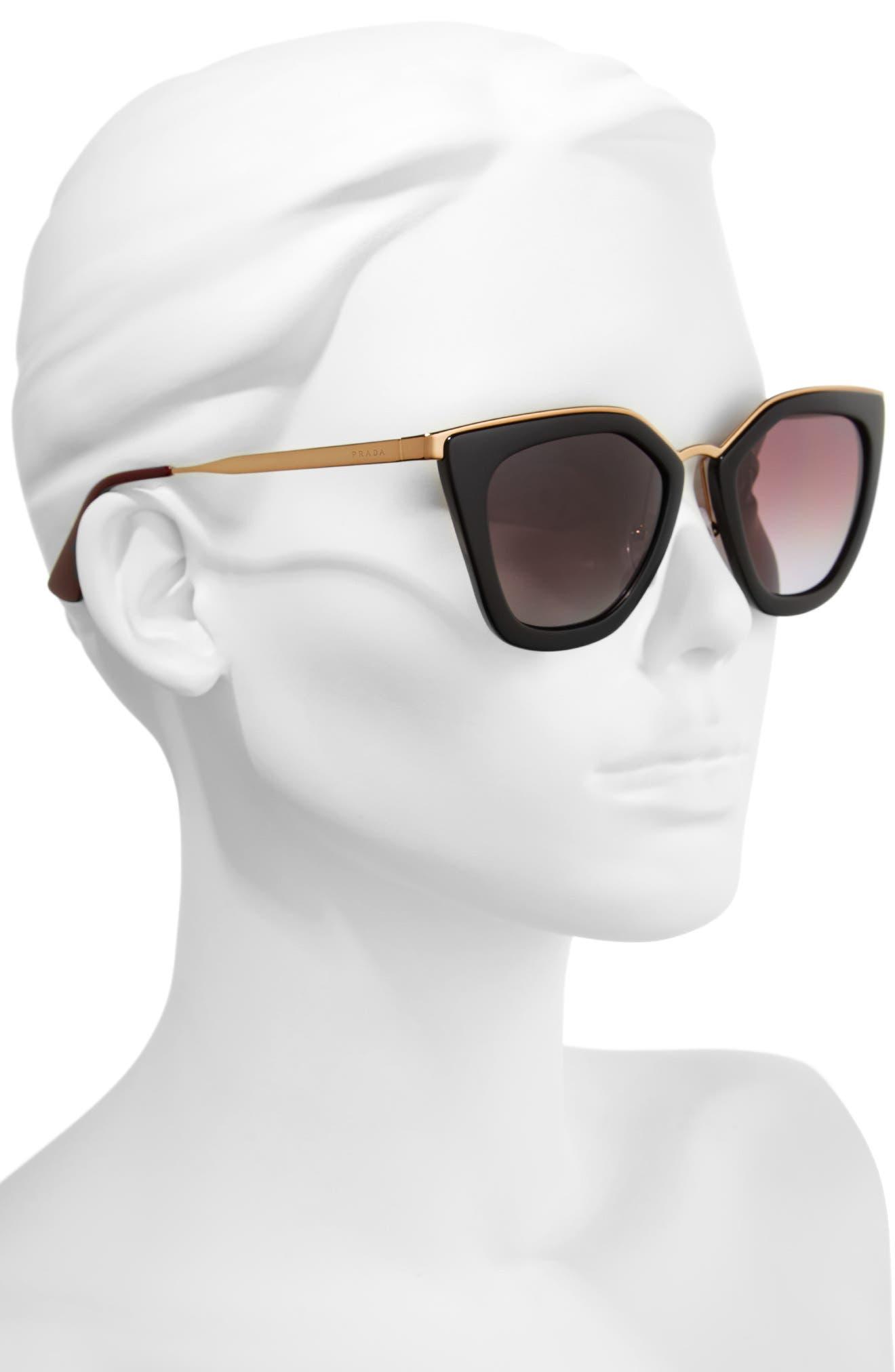 52mm Polarized Cat Eye Sunglasses,                             Alternate thumbnail 2, color,                             001