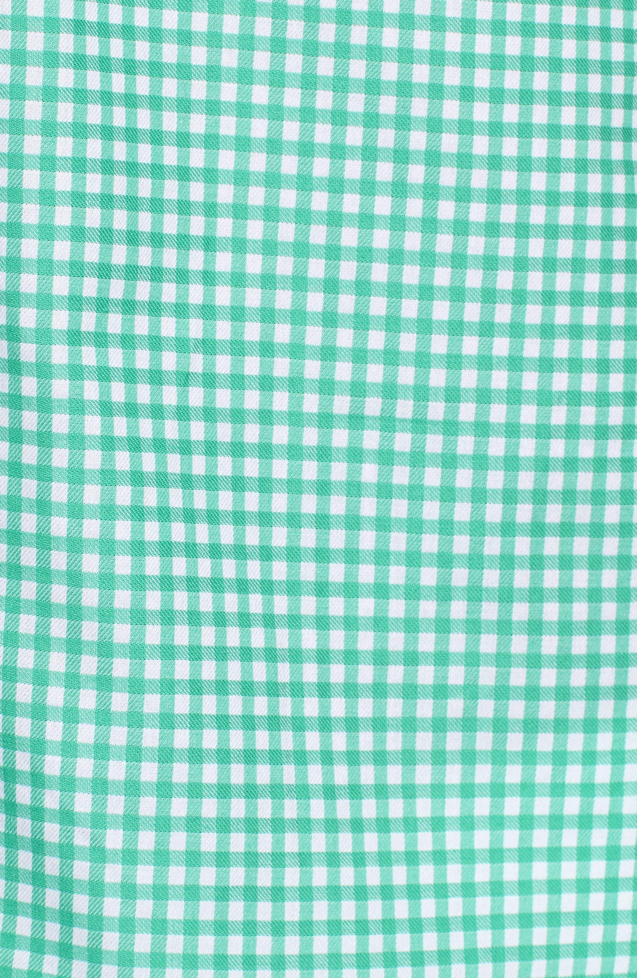 Arlo Regular Fit Check Sport Shirt,                             Alternate thumbnail 5, color,                             300